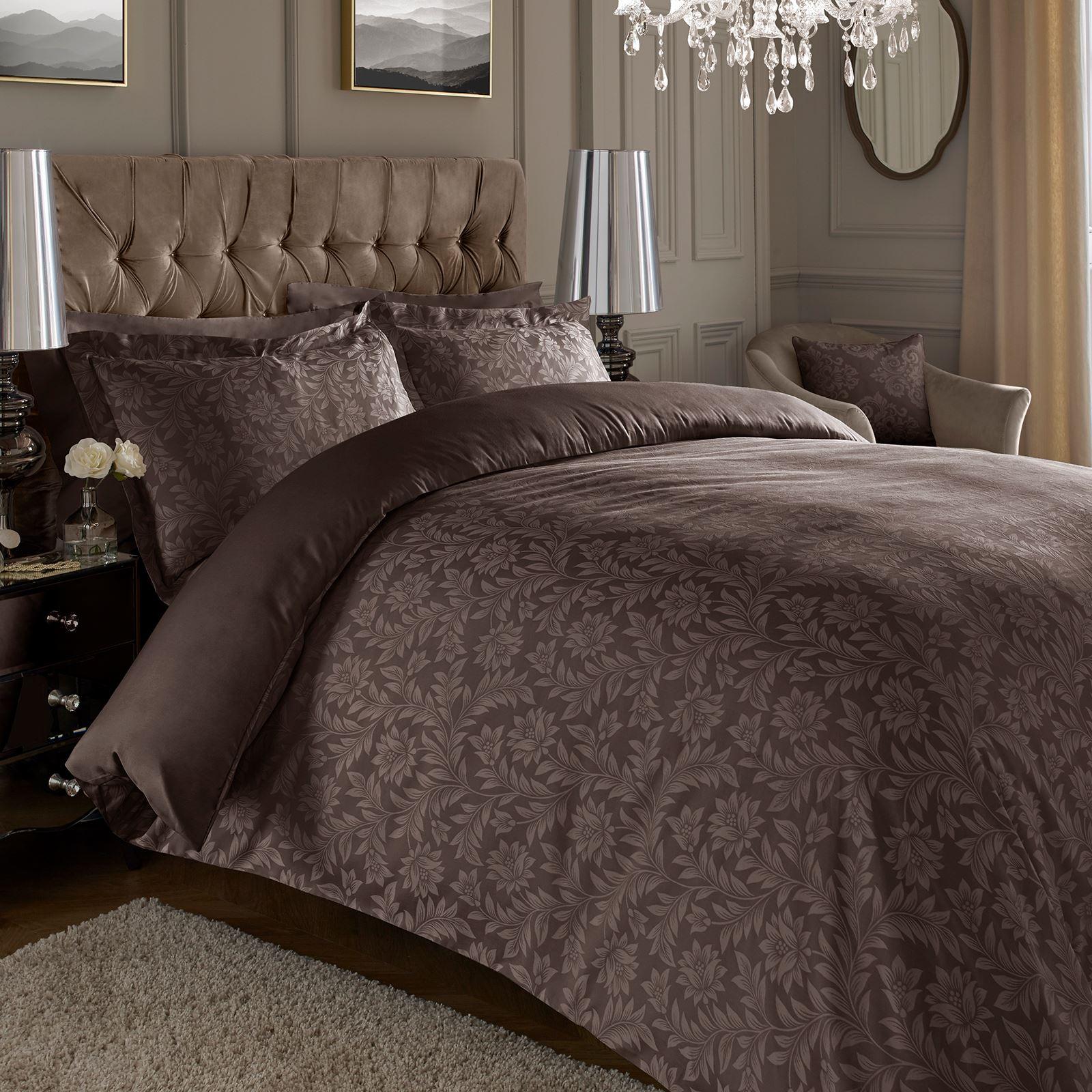 Jacquard-600-Hilos-De-Algodon-Rico-Floral-Duvet-Cover-Set-Fundas-de-almohada-Oxford miniatura 10