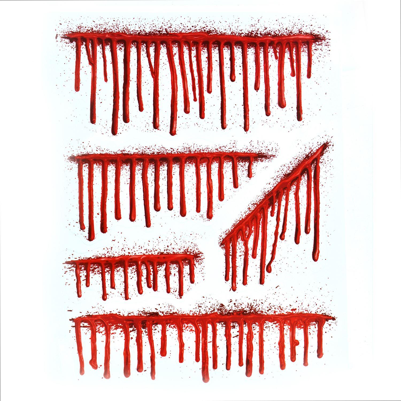 Halloween Window Decorations: Halloween Blood/Green Window Stickers Party Horror