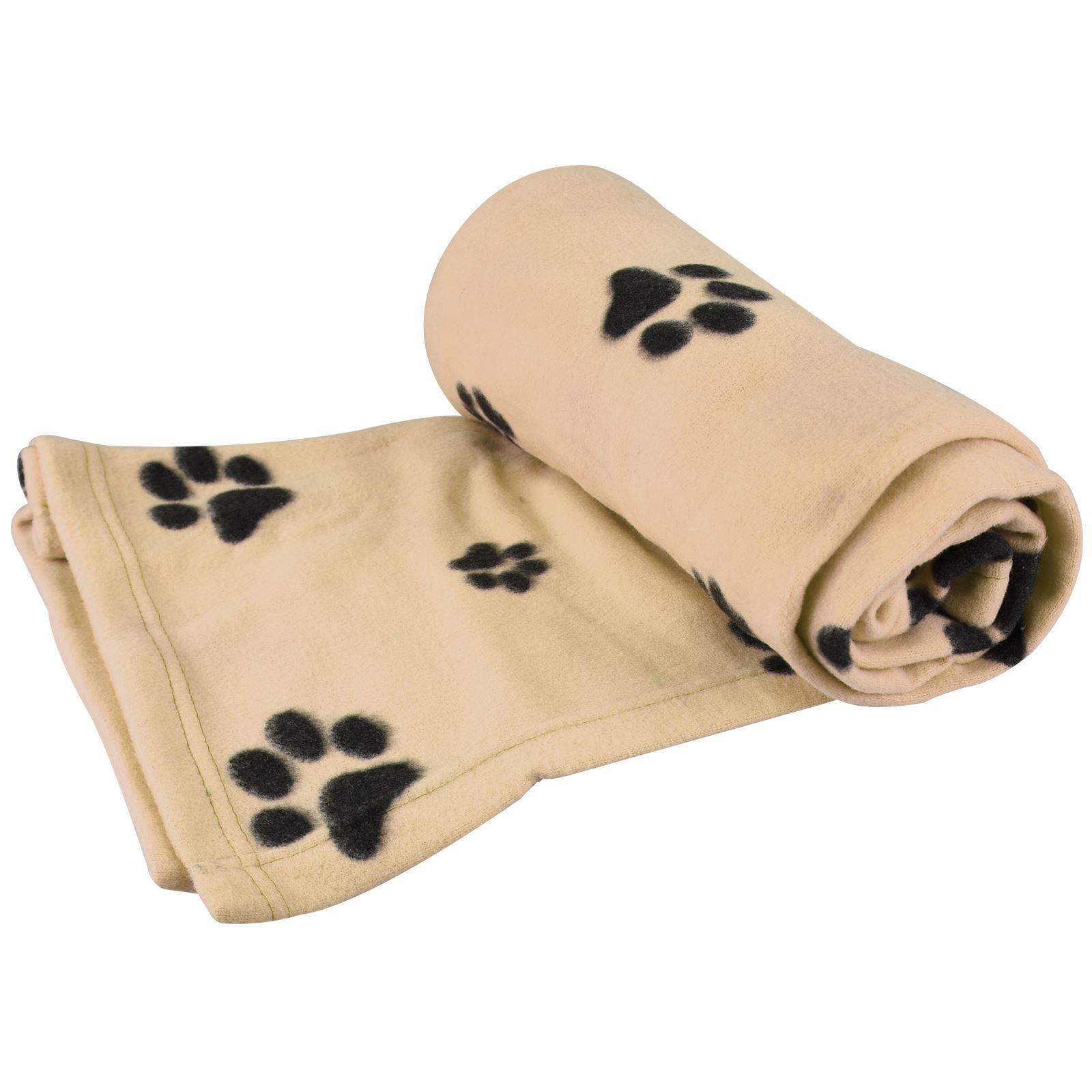 Warm-Pet-Mat-Paw-Print-Cat-Dog-Puppy-Fleece-Soft-Blanket-Bed-Cushion-One-Size thumbnail 4