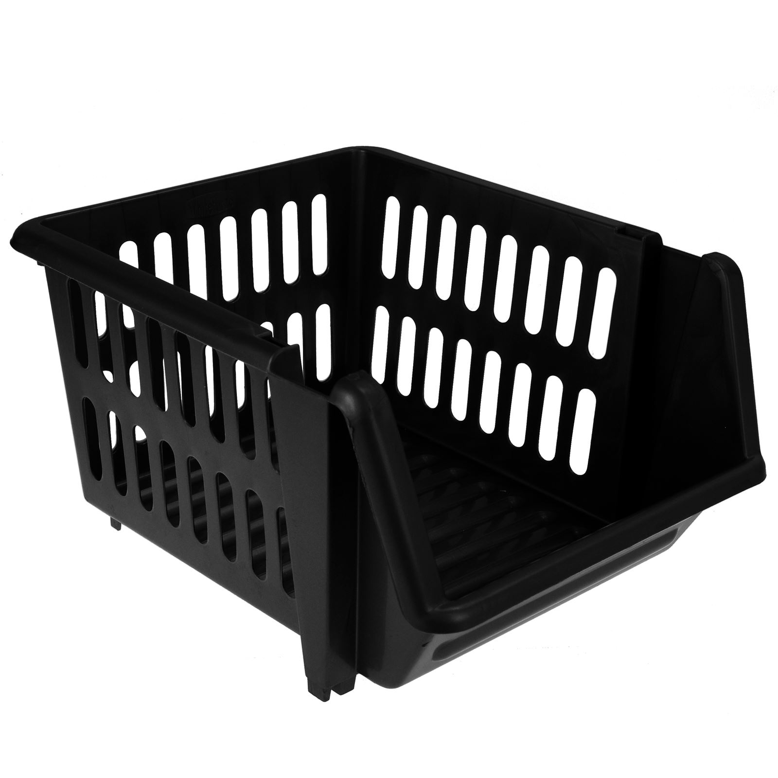 3-Tier-Plastic-Stacking-Basket-Set-Kitchen-Office-Storage-Rack-Stackable-Boxes thumbnail 3