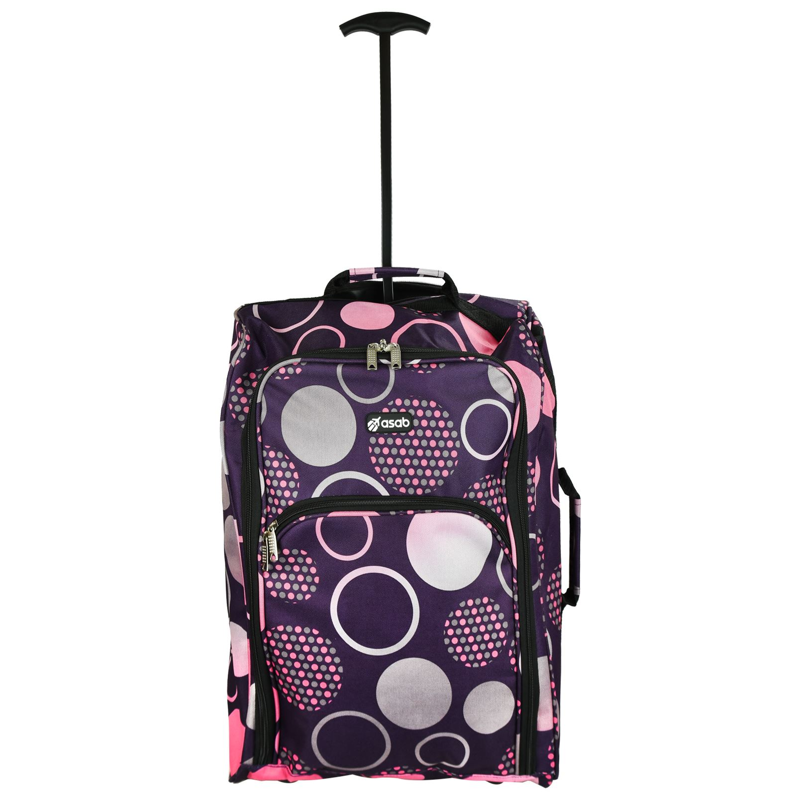Cabin-Hand-Luggage-Trolley-Bag-Small-Travel-Flight-Suitcase-Holdall-Wheeled thumbnail 23