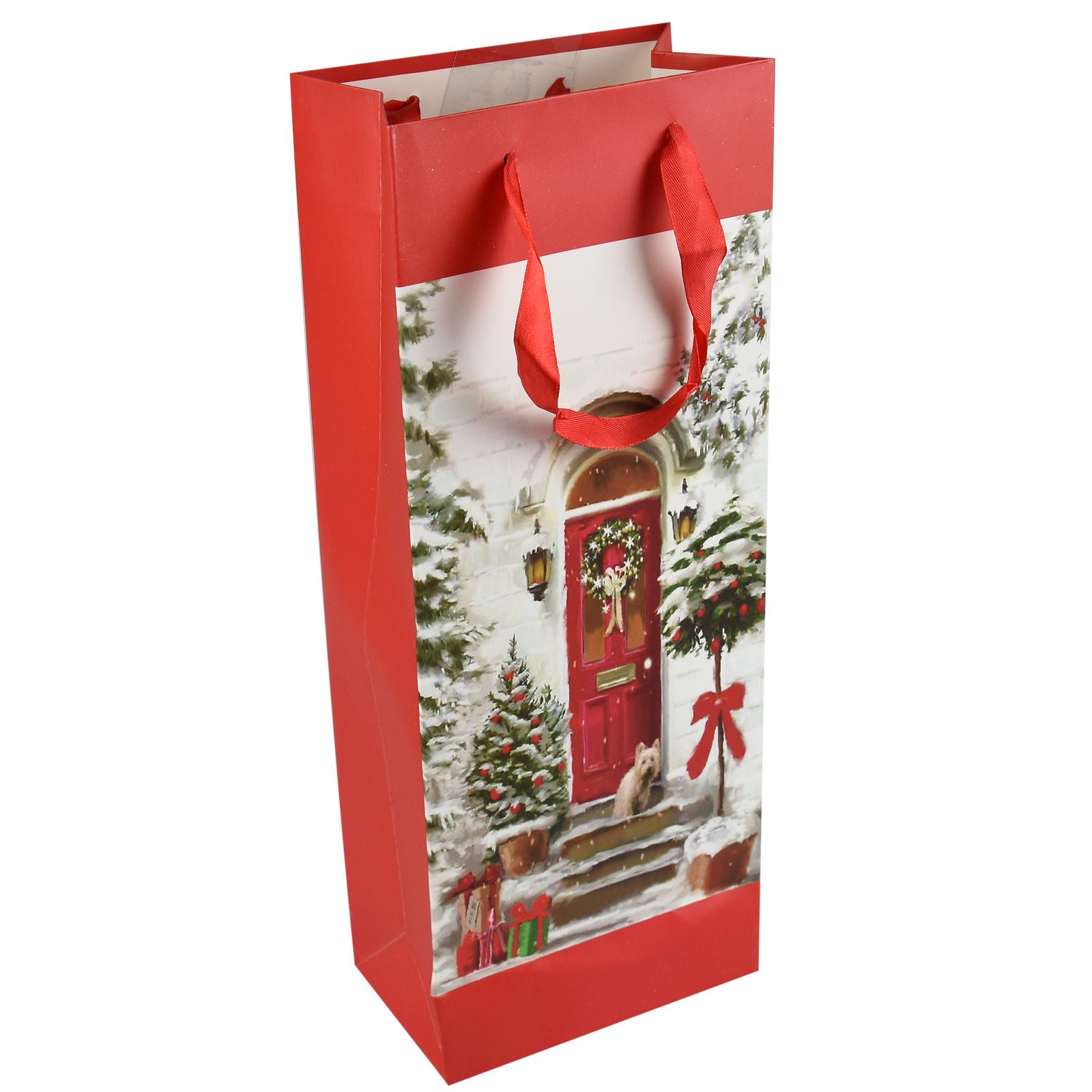 Tradizionale-Regalo-di-Natale-Borse-Regalo-Natale-Inverno-Glitter-Design-Paper-Carrier miniatura 4