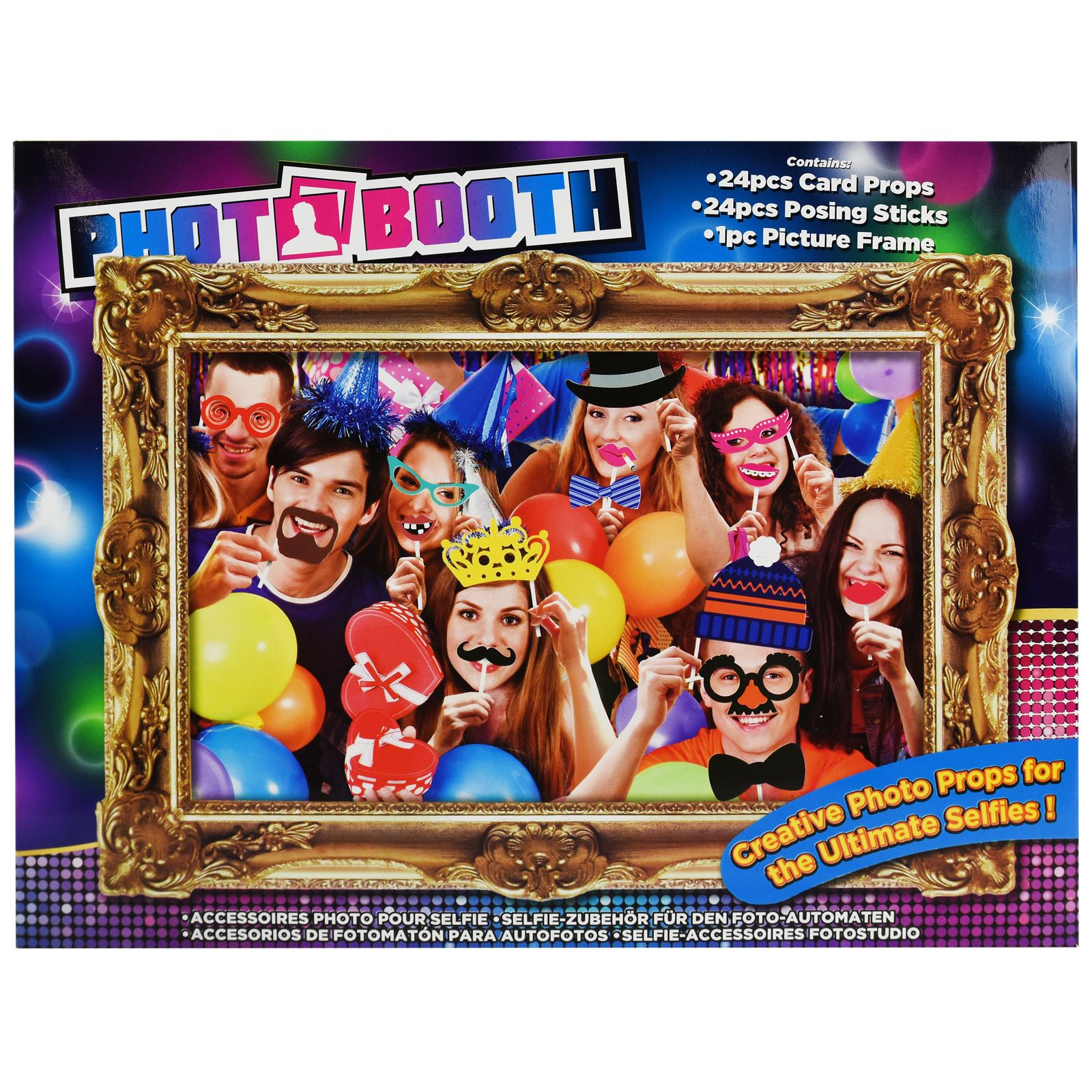Novelty Photo Booth Selfie Picture Frame Card Props Family Christmas ...