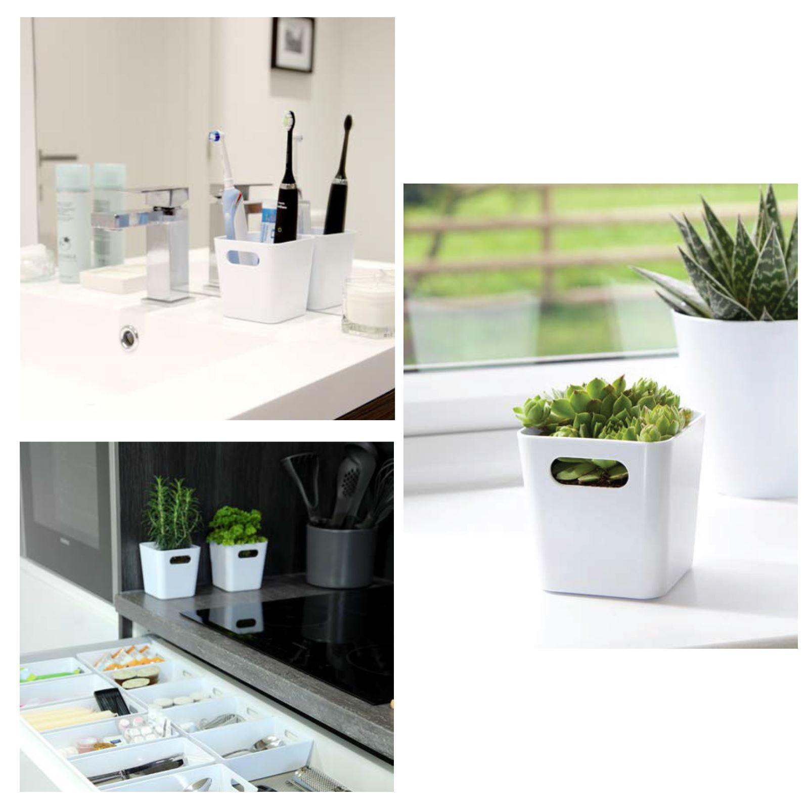 Plastic-Handy-Fruit-Vegetable-Home-Kitchen-Storage-Basket-Crate-Tidy-Organiser thumbnail 3