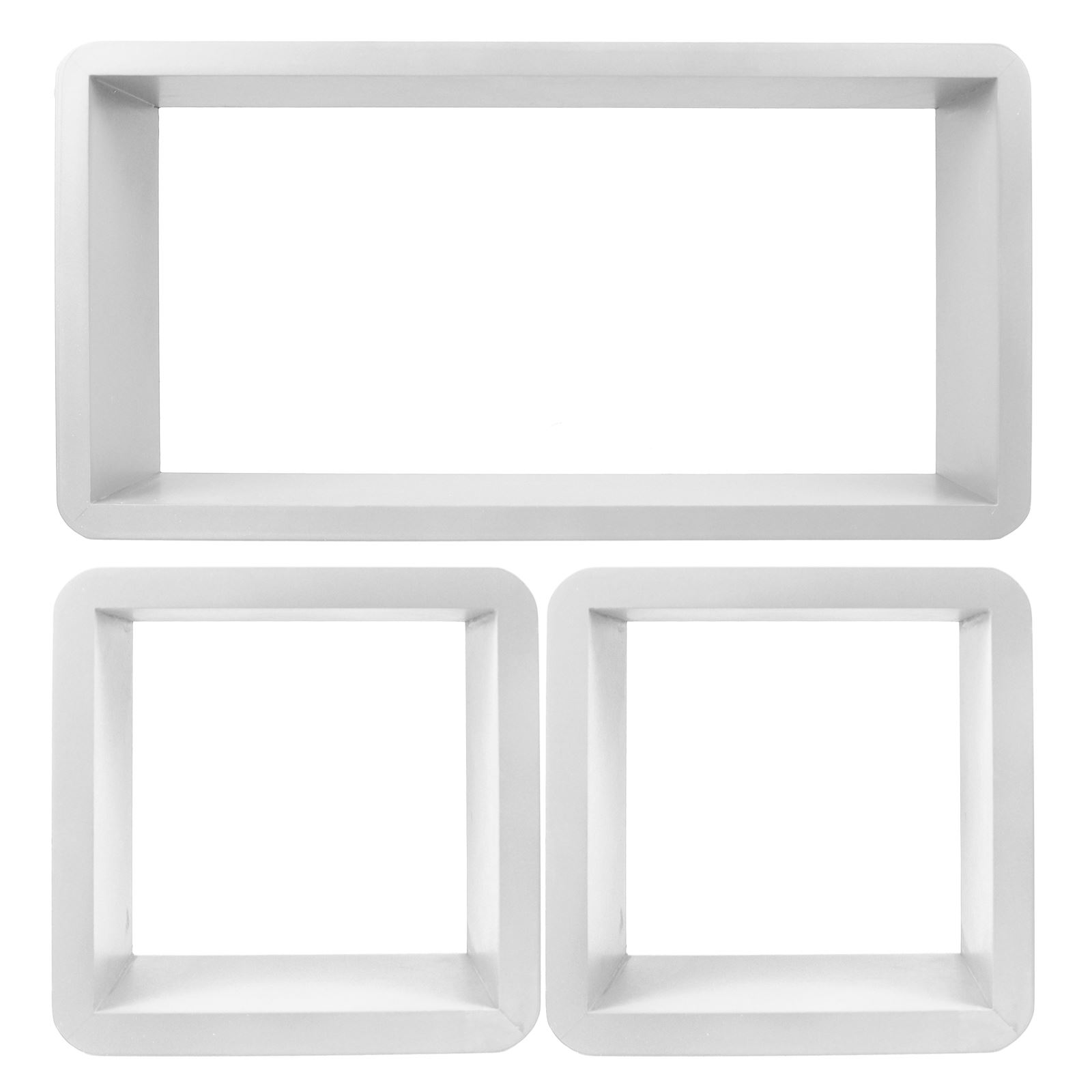 3pc-Set-Rectangle-Floating-Shelves-Wall-Mount-Storage-Book-Shelf-DVD-CD-Stand thumbnail 24