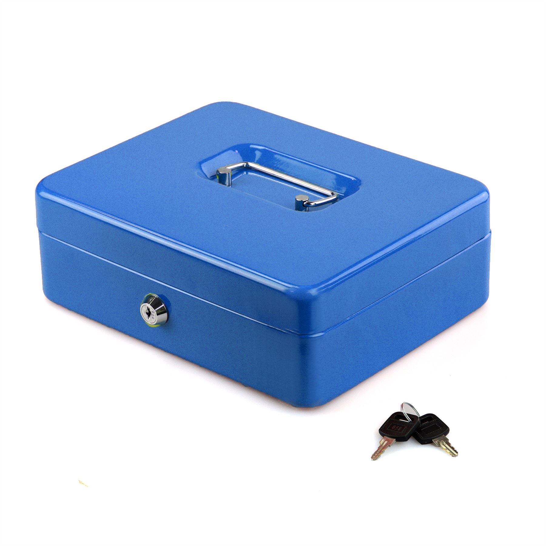 Petty-Cash-Safety-Deposit-Box-Metal-Security-Steel-Money-Bank-Coin-Tray-holder thumbnail 9