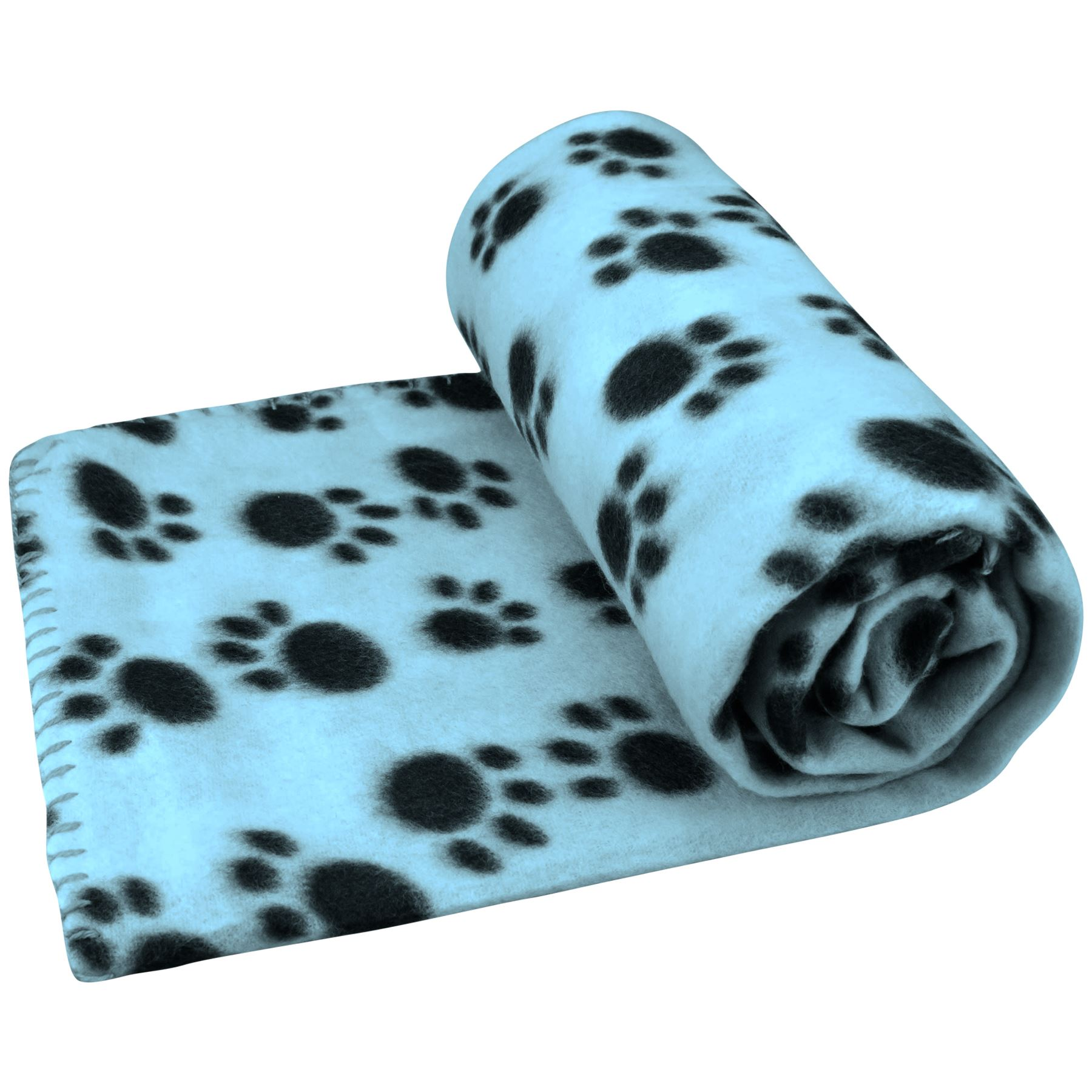 Pet-Blanket-Dogs-amp-Puppy-Cat-Paw-Print-Soft-Warm-Fleece-Bed-Travel-Basket-Car thumbnail 16