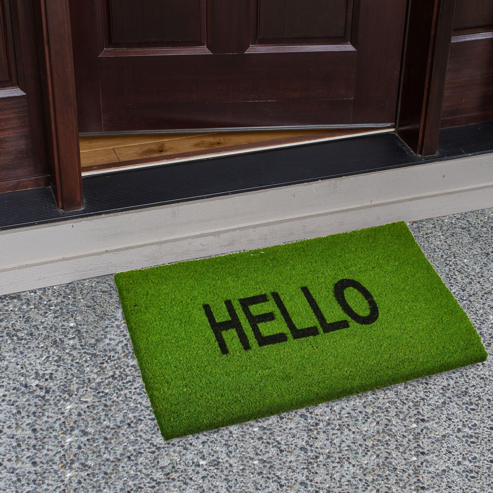 Plain-Non-Slip-Door-Mat-Tough-Natural-Coir-PVC-Back-Welcome-Doormat-40-x-60cm miniatura 64