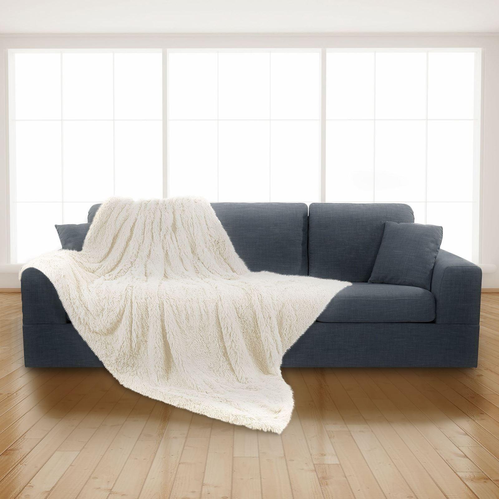 Luxury Super Soft Long Pile Throw Blanket Faux Fur Warm Shaggy