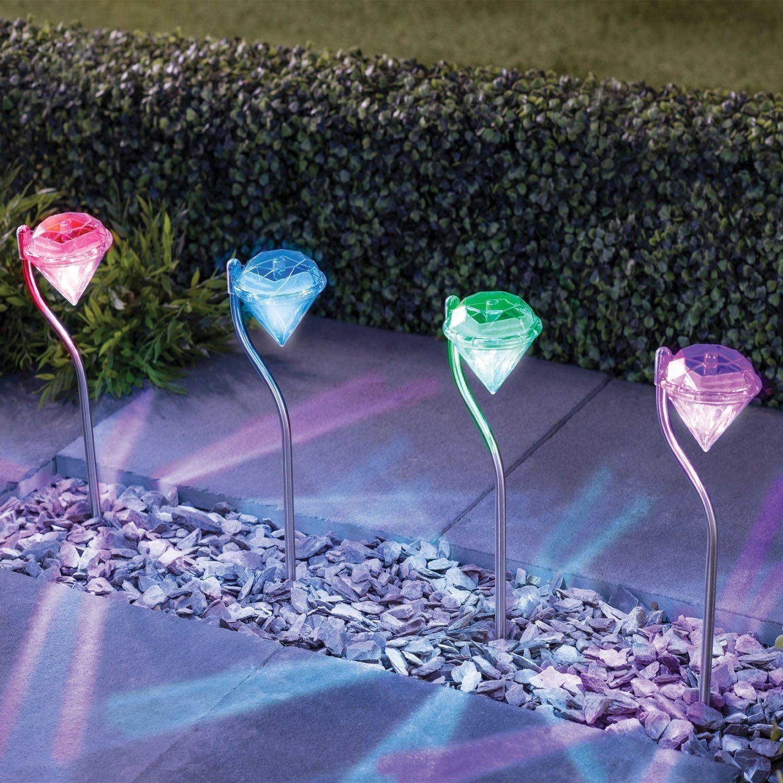 ASAB-10-x-a-energie-solaire-en-acier-inoxydable-jardin-poste-lumieres-DEL-eclairage-exterieur miniature 9