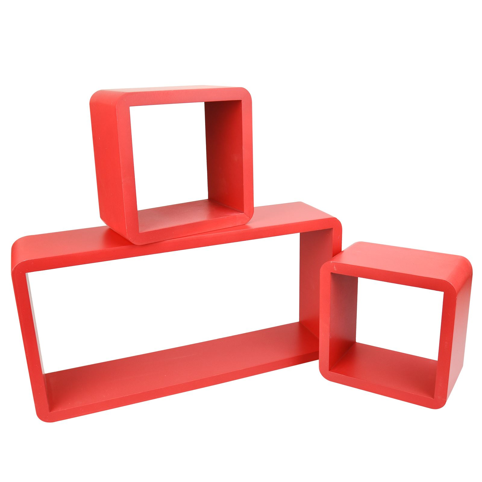 3pc-Set-Rectangle-Floating-Shelves-Wall-Mount-Storage-Book-Shelf-DVD-CD-Stand thumbnail 19