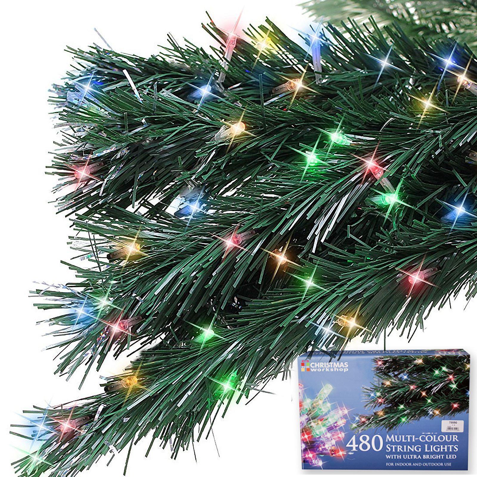 480-led-luminosi-luce-di-Natale-stringa-Statico-Finestra-Albero-Natale-Decorazione-Festa miniatura 3