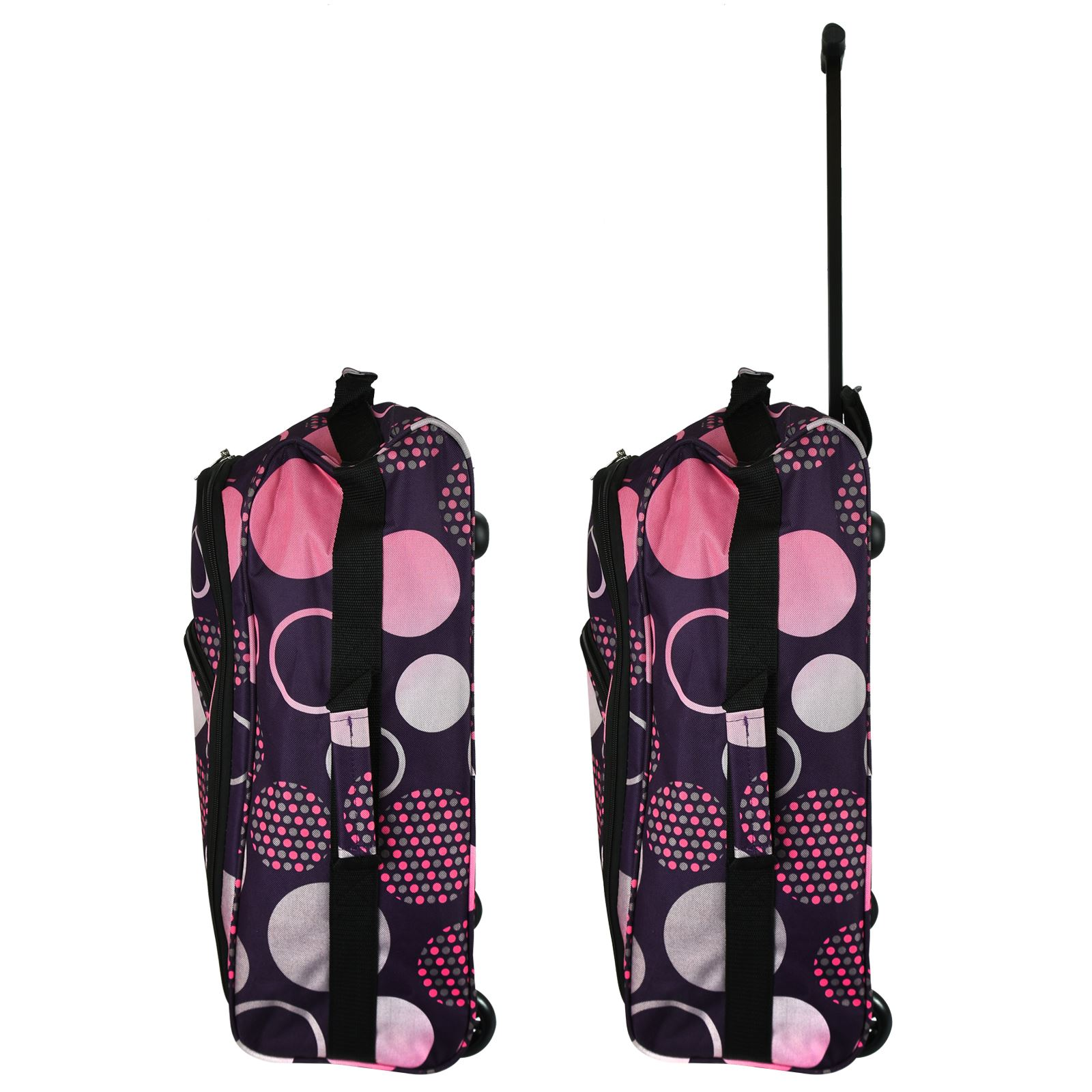 Cabin-Hand-Luggage-Trolley-Bag-Small-Travel-Flight-Suitcase-Holdall-Wheeled thumbnail 24