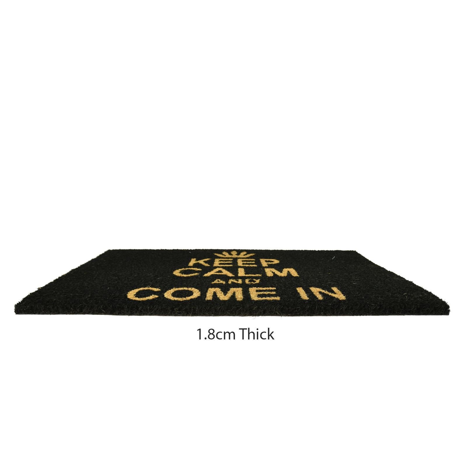 Plain-Non-Slip-Door-Mat-Tough-Natural-Coir-PVC-Back-Welcome-Doormat-40-x-60cm miniatura 77