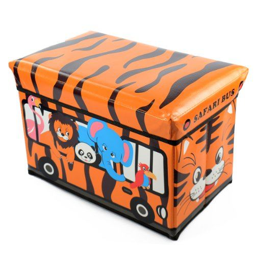 Toy Boxes For Boys : Kids storage box seat toy stool books clothes chest
