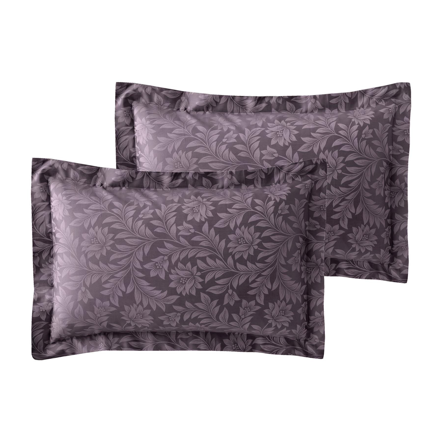 Jacquard-600-Hilos-De-Algodon-Rico-Floral-Duvet-Cover-Set-Fundas-de-almohada-Oxford miniatura 23