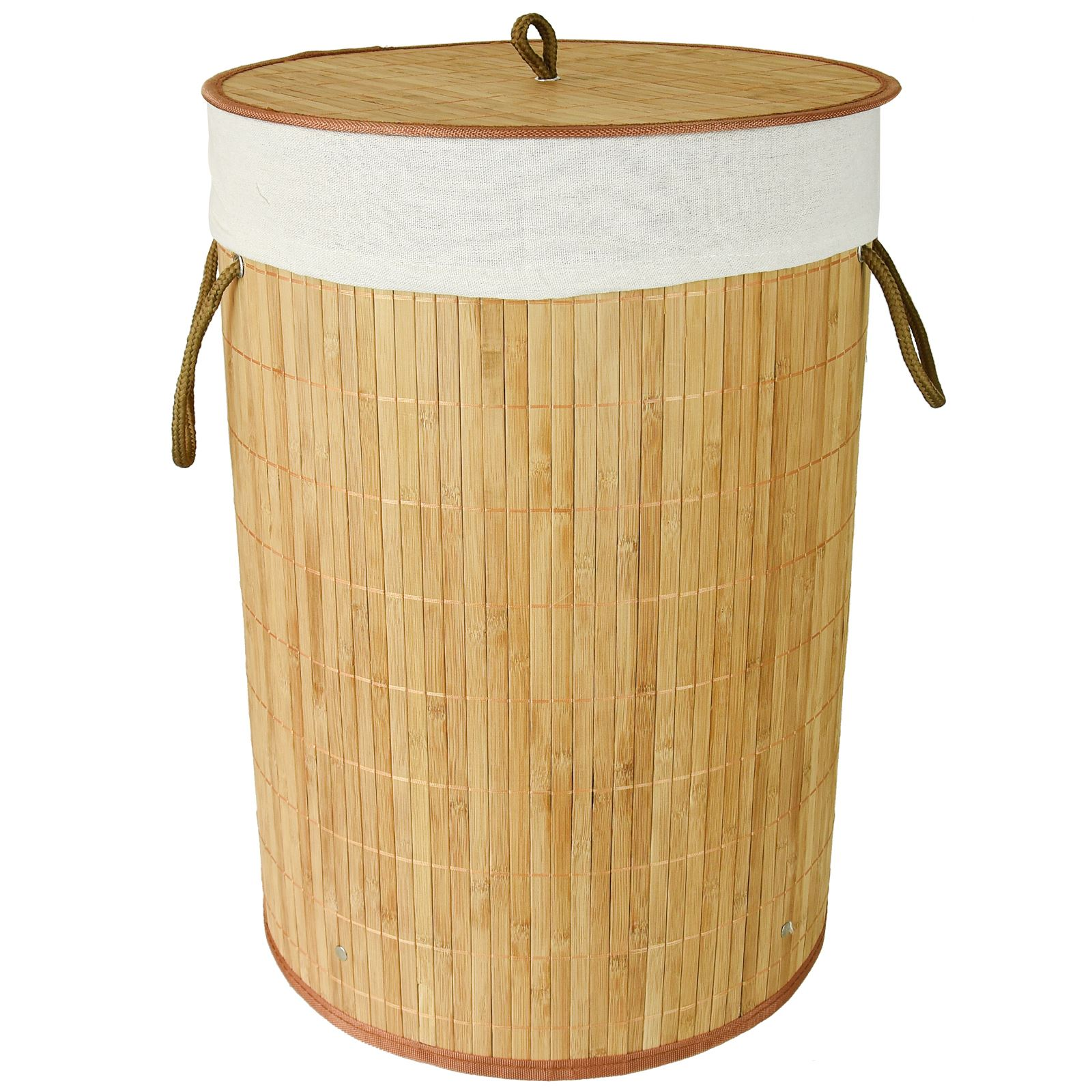 Bamboo Laundry Hamper Basket Storage Bin Dirty Clothes