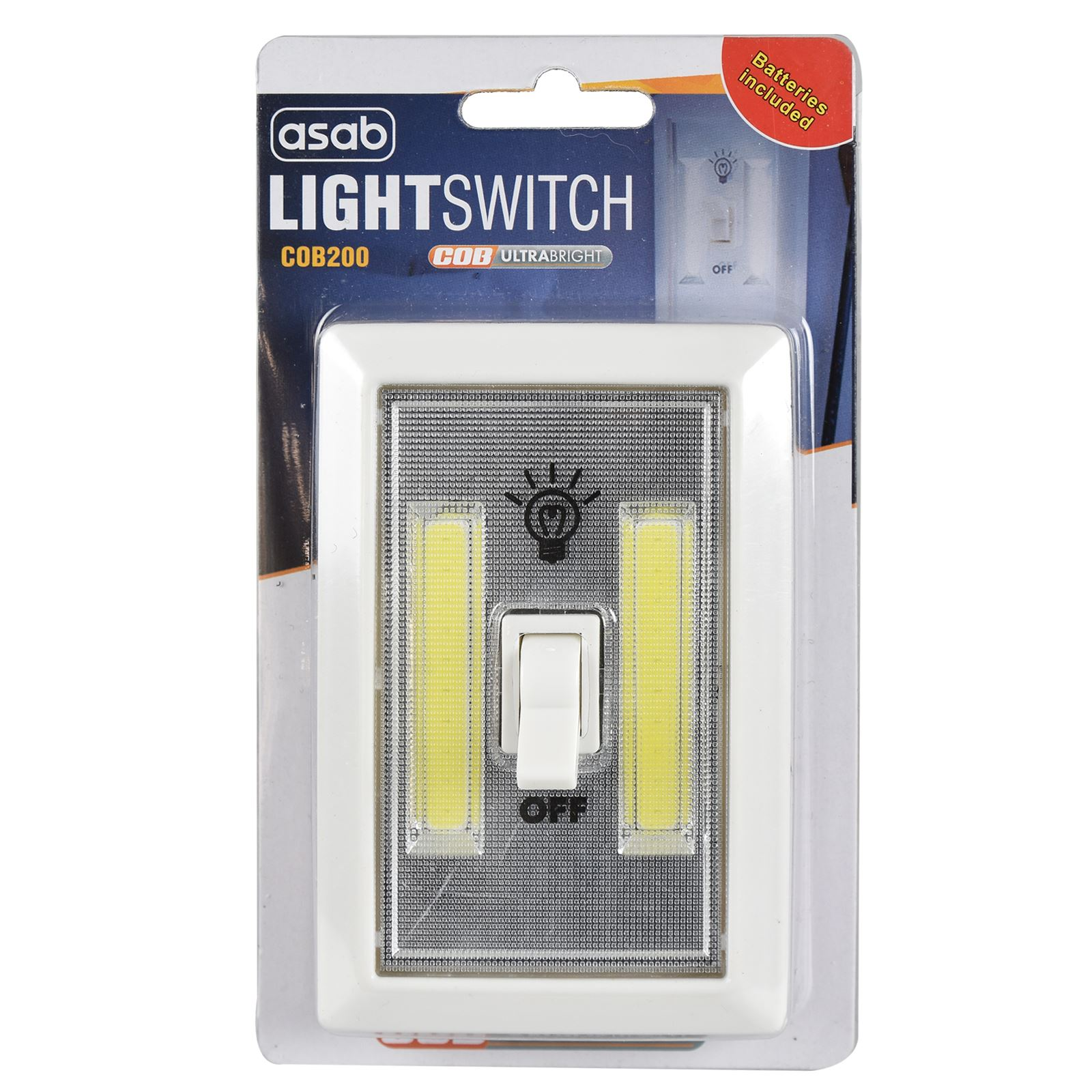 Cob Led 2w Light Switch Super Bright Battery Powered No Wire Wiring A Lamp And Picture 2 Of 6