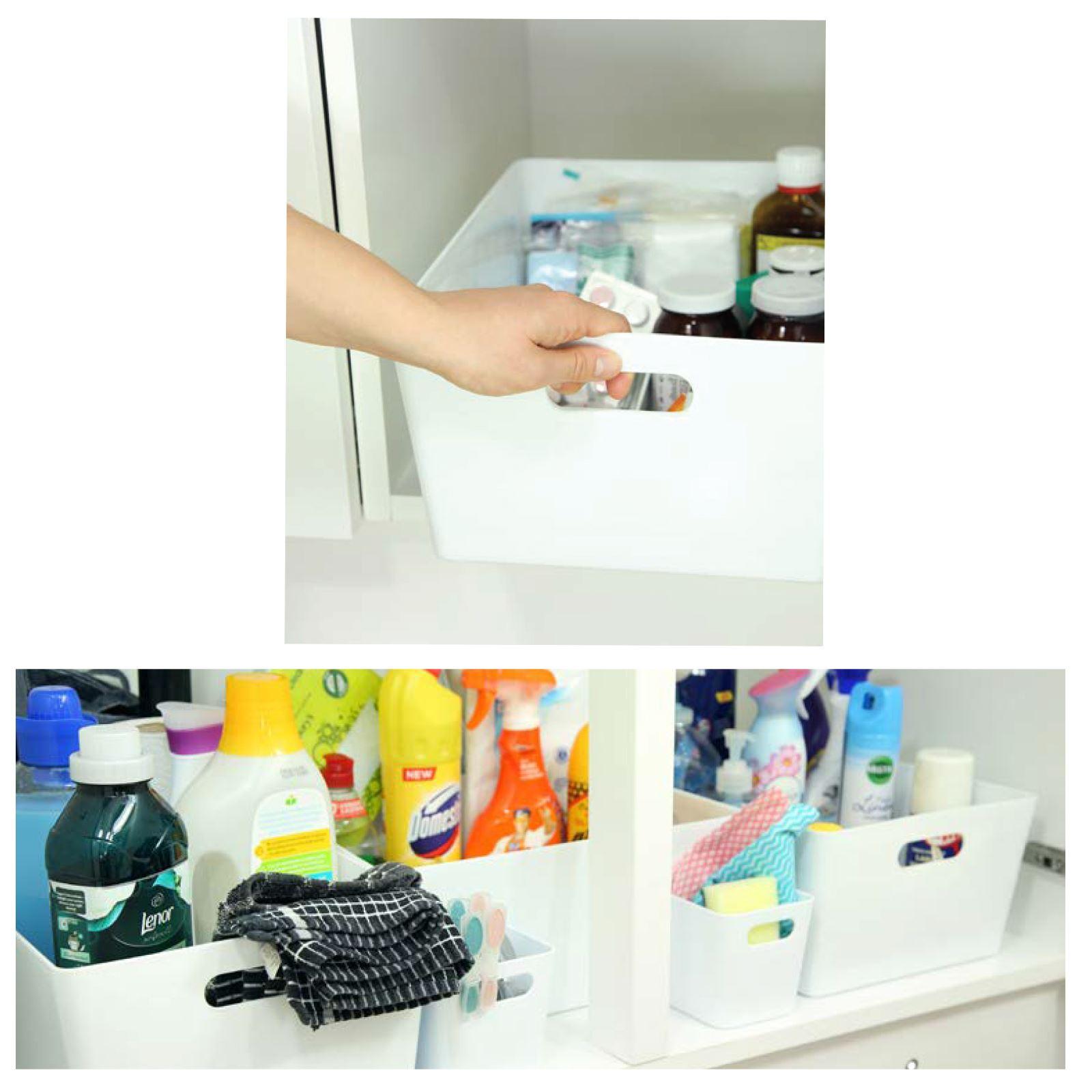 Plastic-Handy-Fruit-Vegetable-Home-Kitchen-Storage-Basket-Crate-Tidy-Organiser thumbnail 15