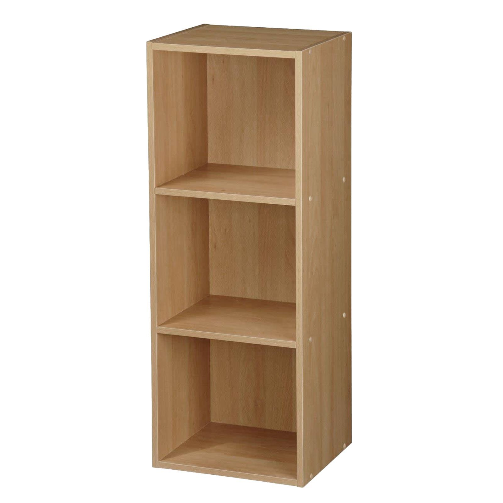 Wooden-Storage-Unit-Cube-2-3-4-Tier-Strong-Bookcase-Shelving-Home-Office-Display thumbnail 24
