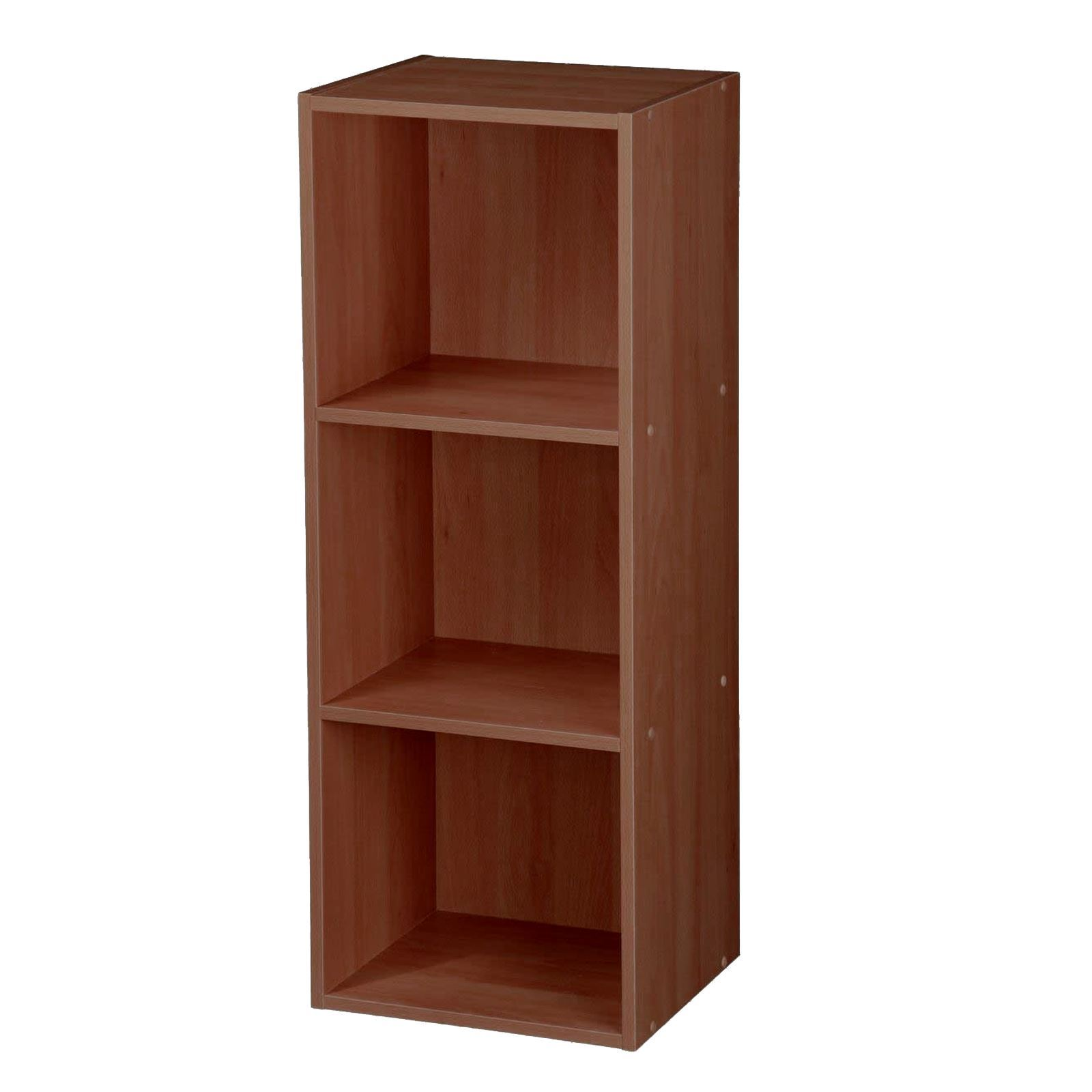 Wooden-Storage-Unit-Cube-2-3-4-Tier-Strong-Bookcase-Shelving-Home-Office-Display thumbnail 20