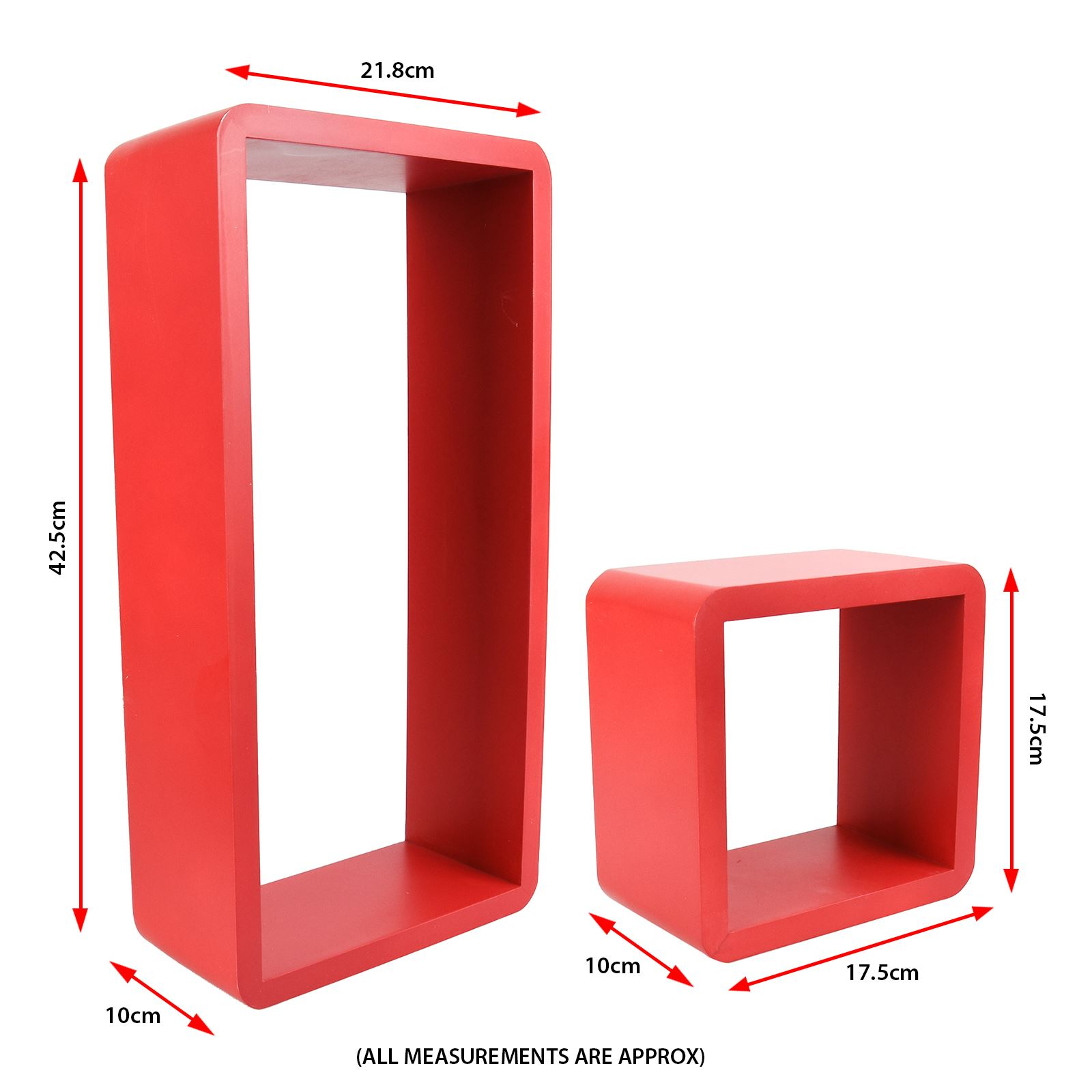 3pc-Set-Rectangle-Floating-Shelves-Wall-Mount-Storage-Book-Shelf-DVD-CD-Stand thumbnail 18
