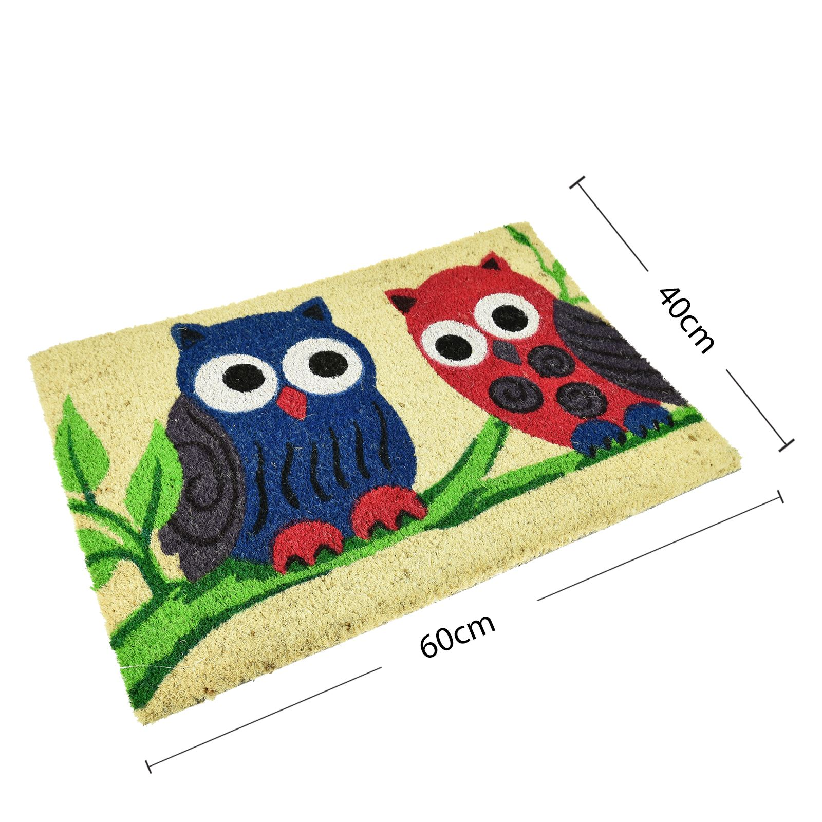 Plain-Non-Slip-Door-Mat-Tough-Natural-Coir-PVC-Back-Welcome-Doormat-40-x-60cm miniatura 26