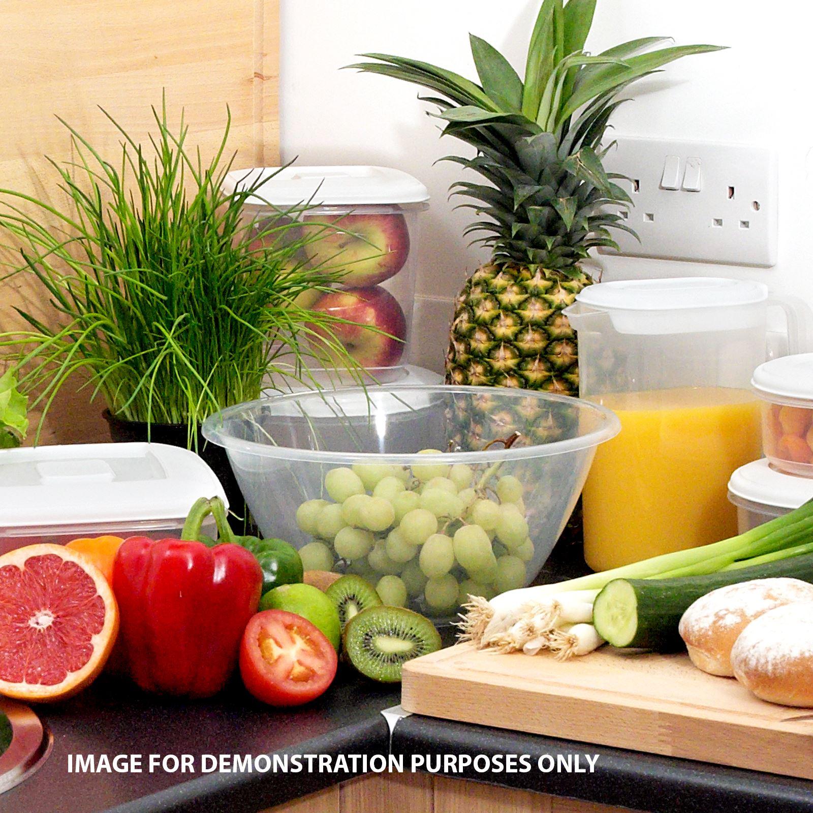 Clear-Plastic-Mixing-Bowl-Measuring-Baking-Salad-Serving-Cooking-Kitchen-Bowls thumbnail 3