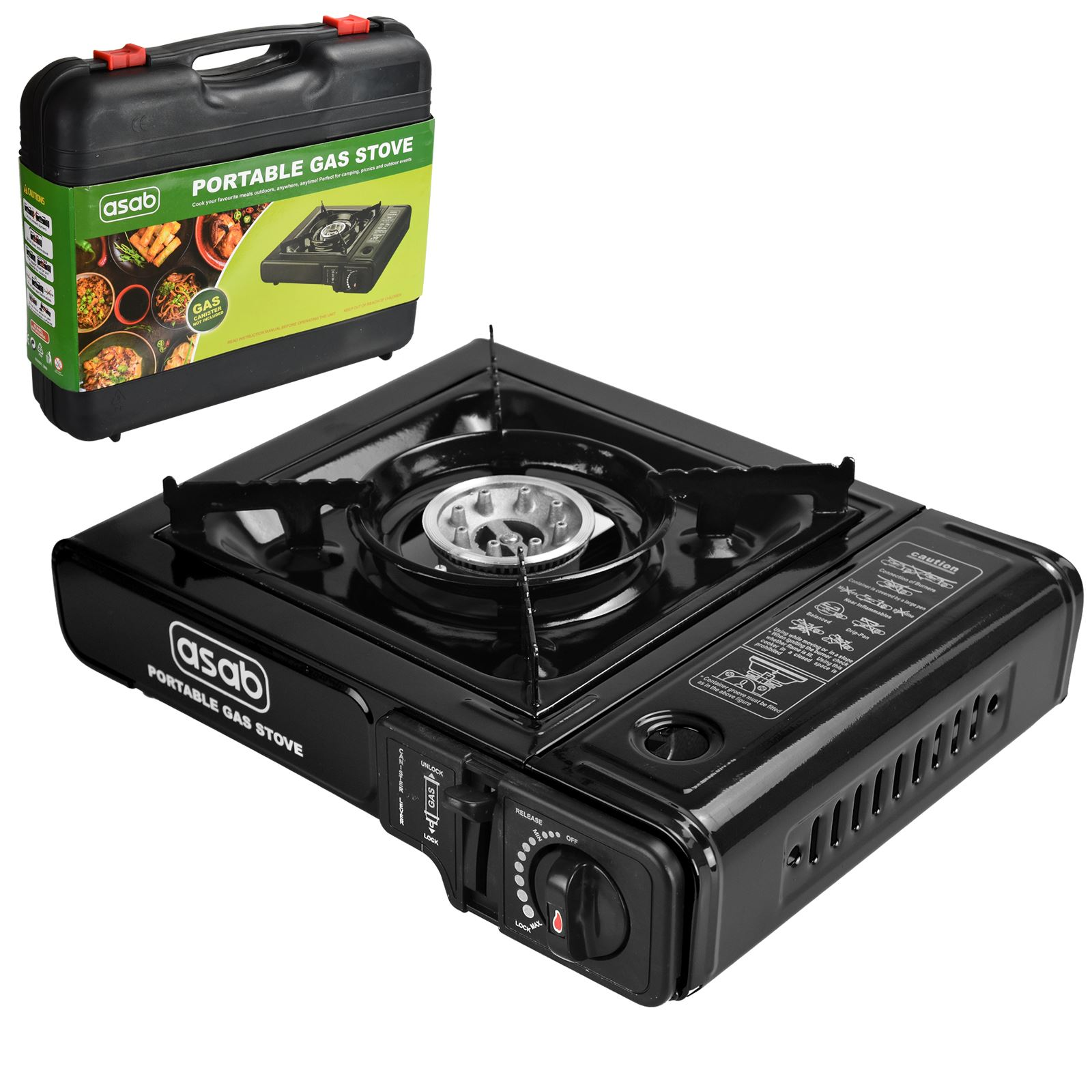 Portable Camping Gas Cooker Stove Single Burner Carry Bag ...
