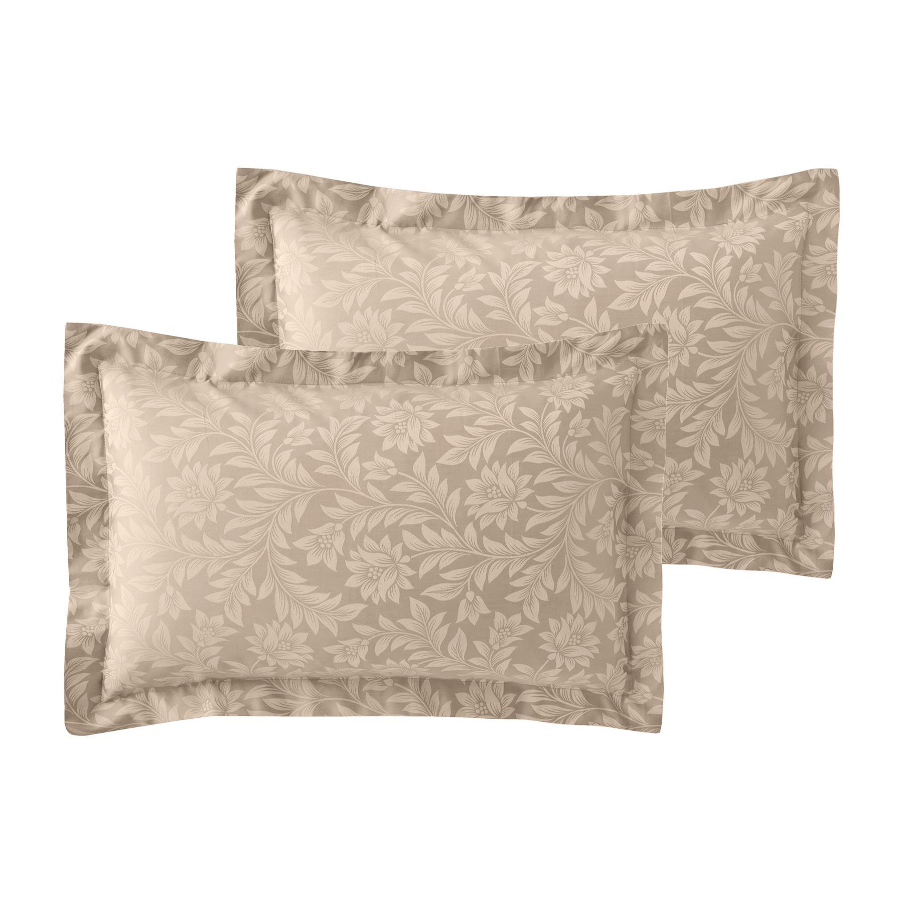 Jacquard-600-Hilos-De-Algodon-Rico-Floral-Duvet-Cover-Set-Fundas-de-almohada-Oxford miniatura 19