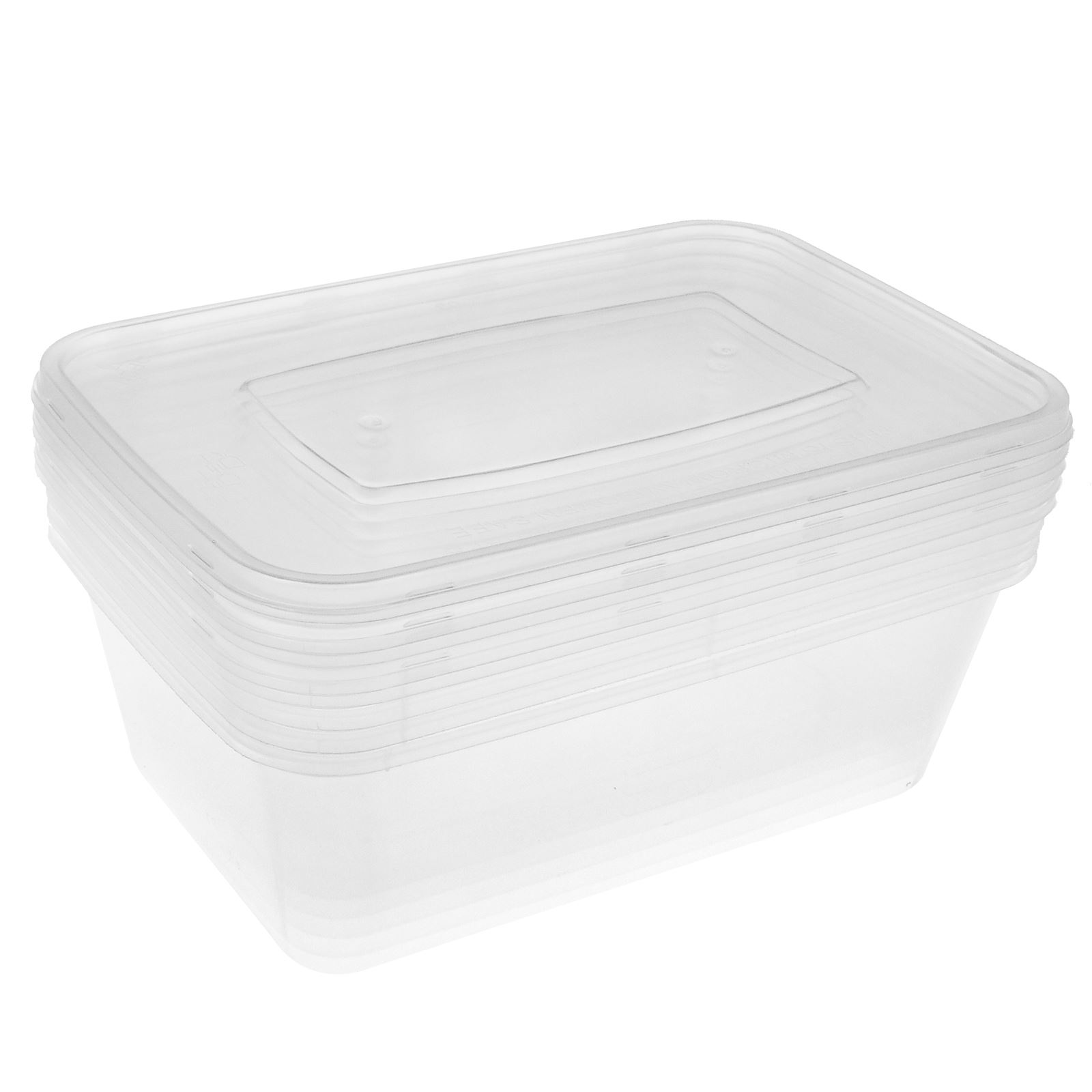 clear plastic food storage containers with lid microwave dishwasher freezer safe ebay. Black Bedroom Furniture Sets. Home Design Ideas