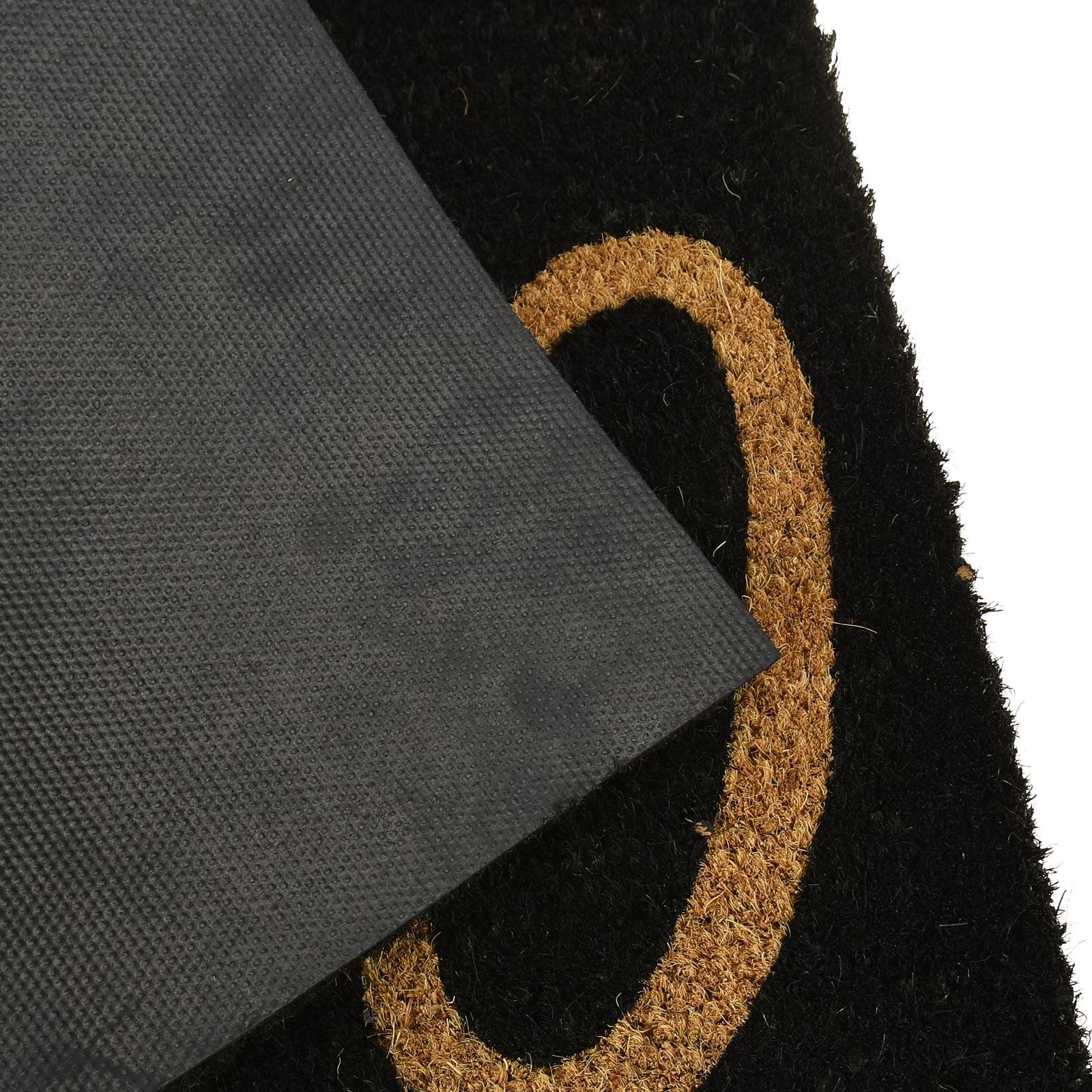 Plain-Non-Slip-Door-Mat-Tough-Natural-Coir-PVC-Back-Welcome-Doormat-40-x-60cm miniatura 56