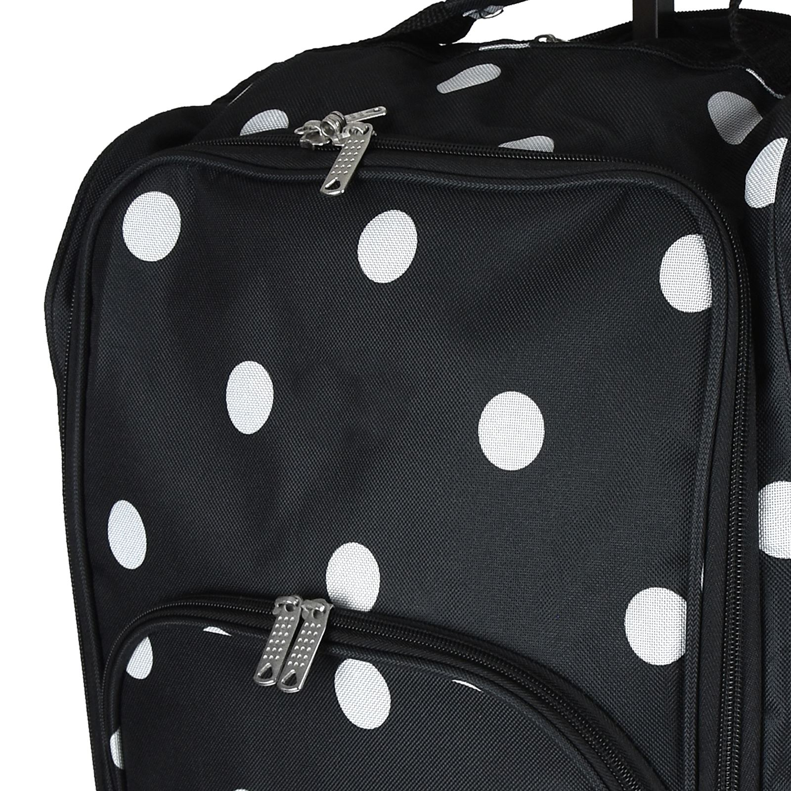 Cabin-Hand-Luggage-Trolley-Bag-Small-Travel-Flight-Suitcase-Holdall-Wheeled thumbnail 5
