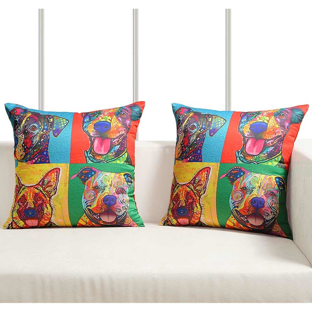 Luxury-Cushion-Covers-Retro-Pop-Art-Design-Digital-Printed-Square-Pillow-Case thumbnail 16