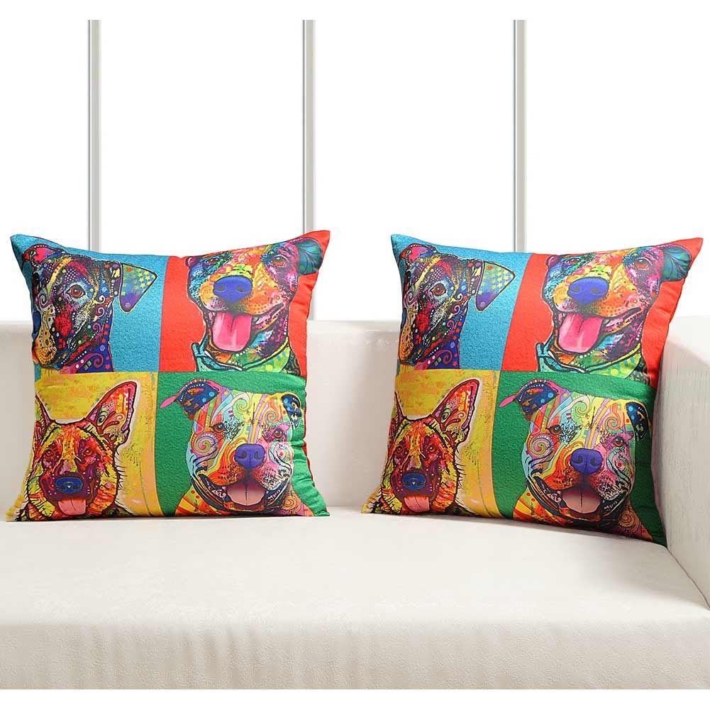 Luxury-Cushion-Covers-Retro-Pop-Art-Design-Digital-Printed-Square-Pillow-Case thumbnail 16
