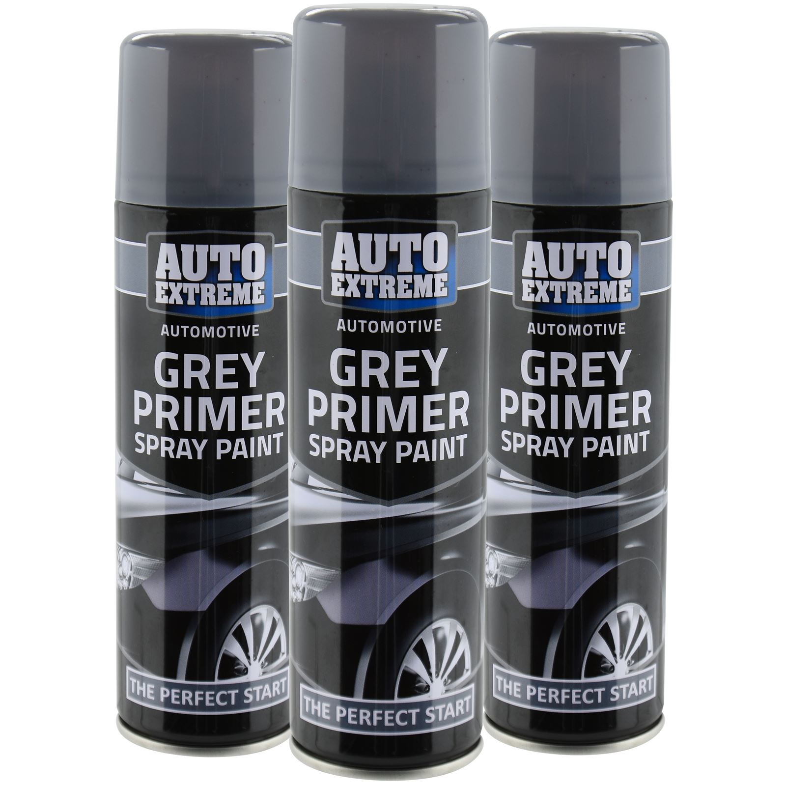 Automotive Grey Primer Spray Paint 250ml Aersol Fast Dry Metal Interior Exterior Ebay