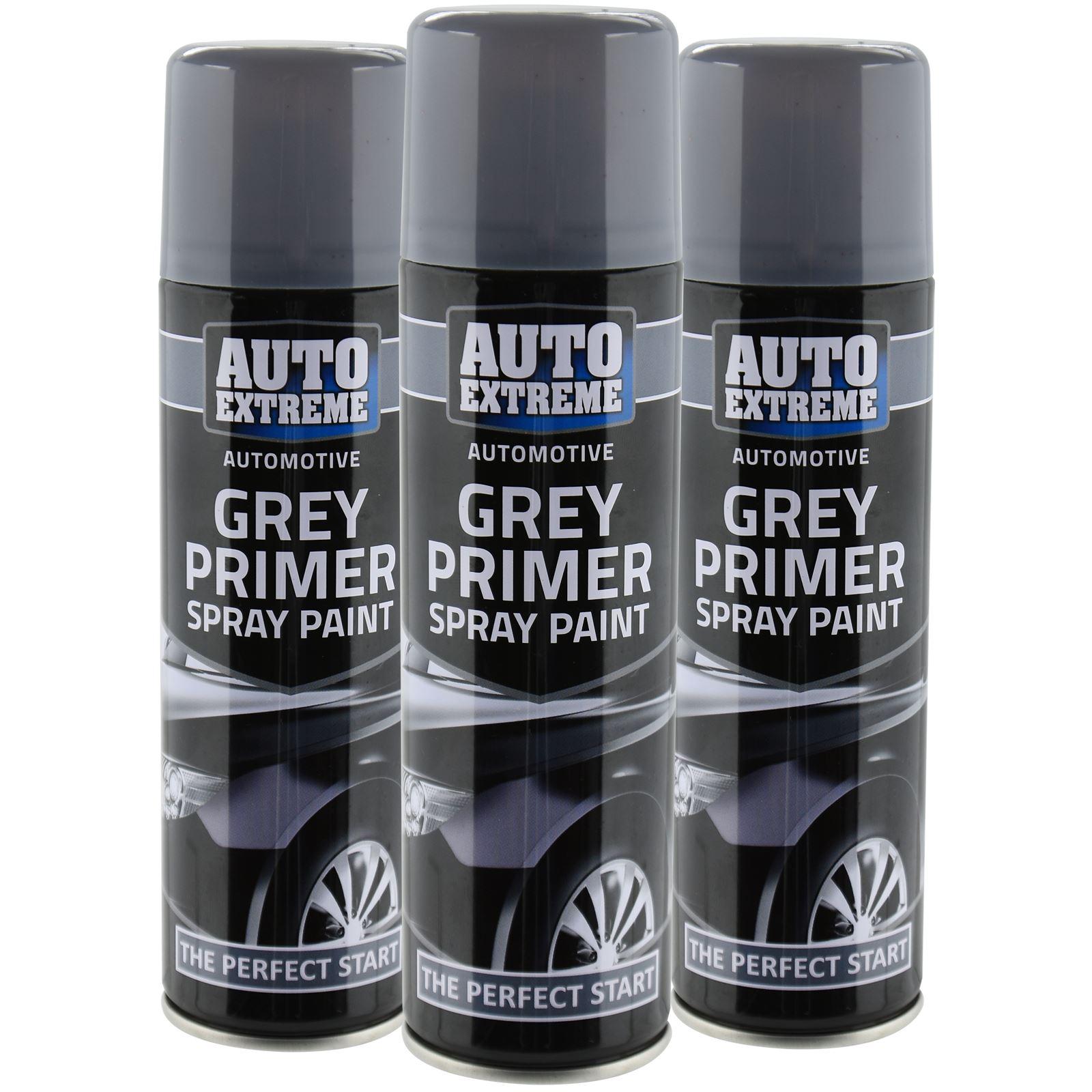 Automotive Grey Primer Spray Paint 250ml Aersol Fast Dry