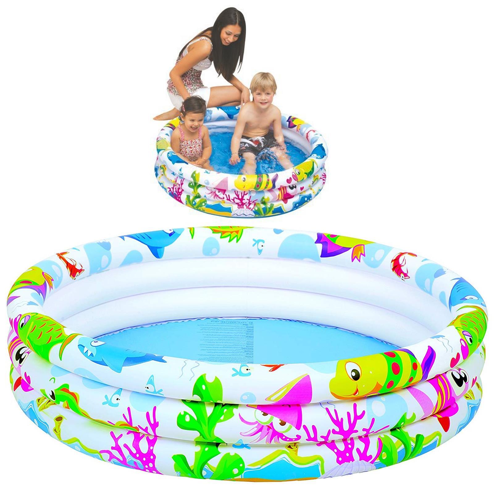 Kids-Play-3-Anillo-Inflable-Centro-De-Natacion-Piscina-Infantil-Mar-Vida-al-Aire-Libre-Diversion miniatura 4
