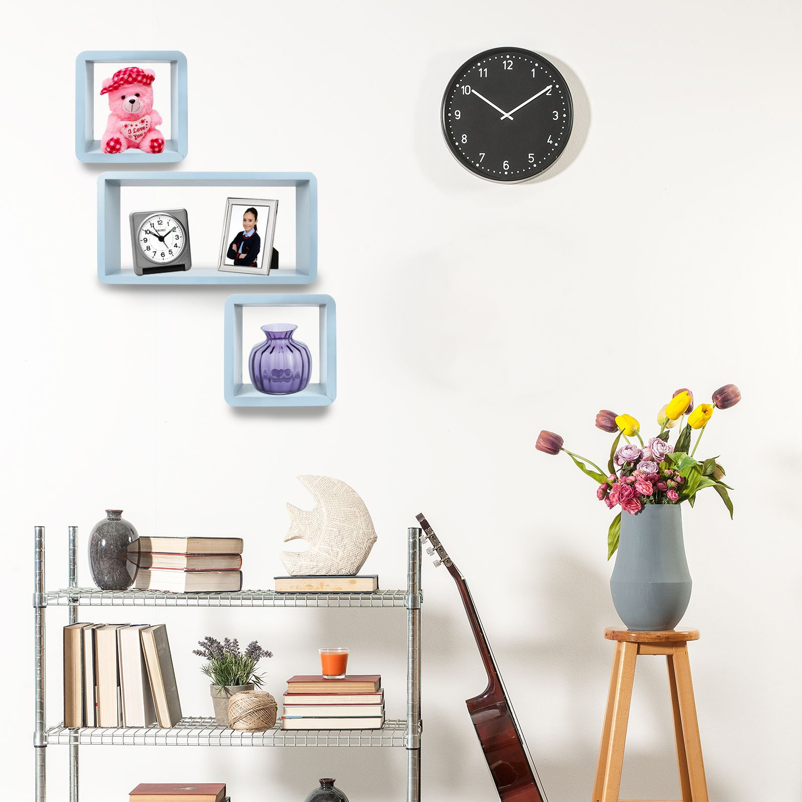 3pc-Set-Rectangle-Floating-Shelves-Wall-Mount-Storage-Book-Shelf-DVD-CD-Stand thumbnail 13