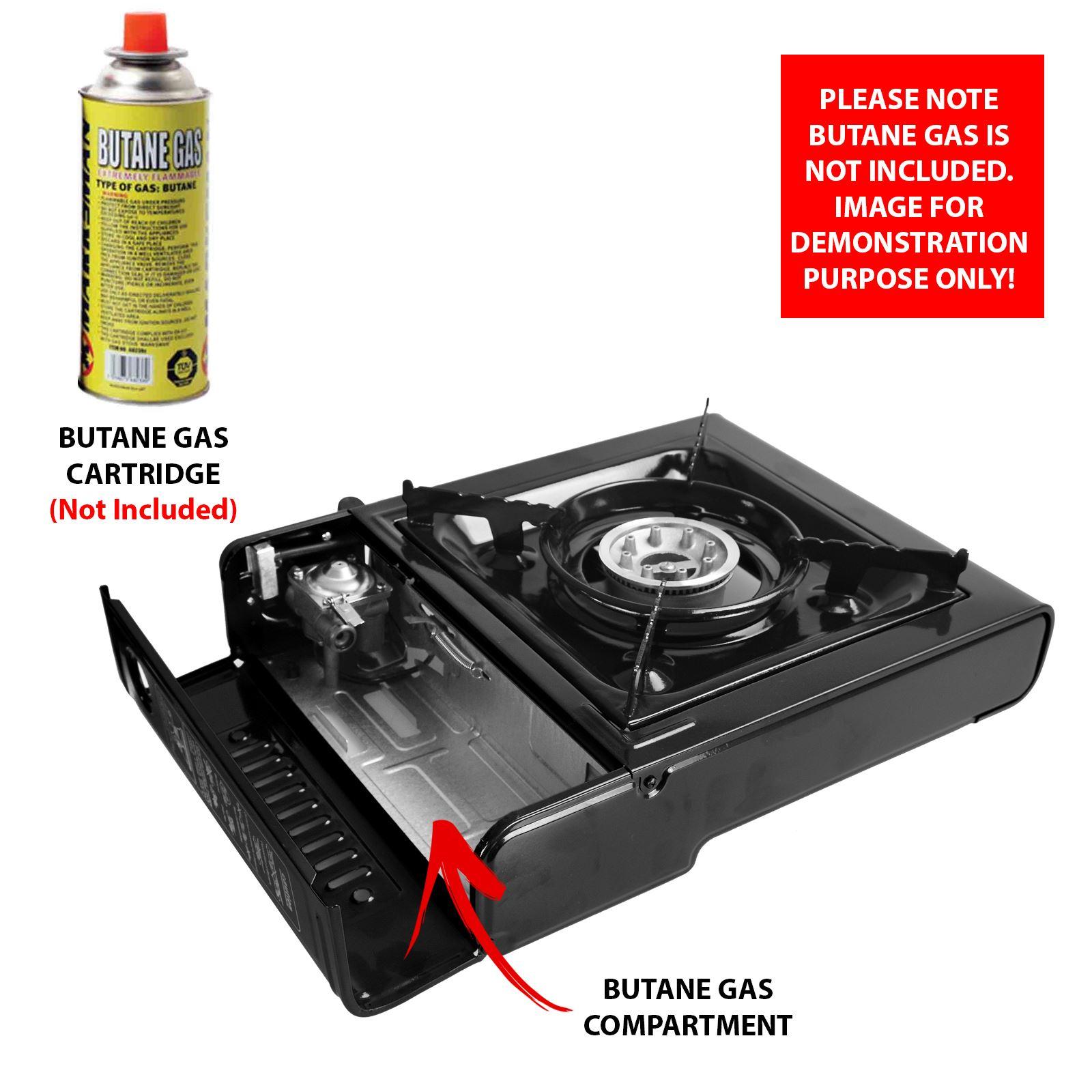 Portable Camping Gas Cooker Single Burner Stove Butane BBQ ...