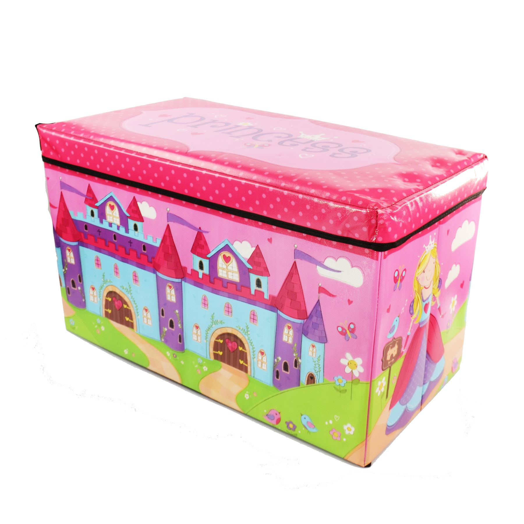 Boys Girls Kids Large Folding Storage Toy Box
