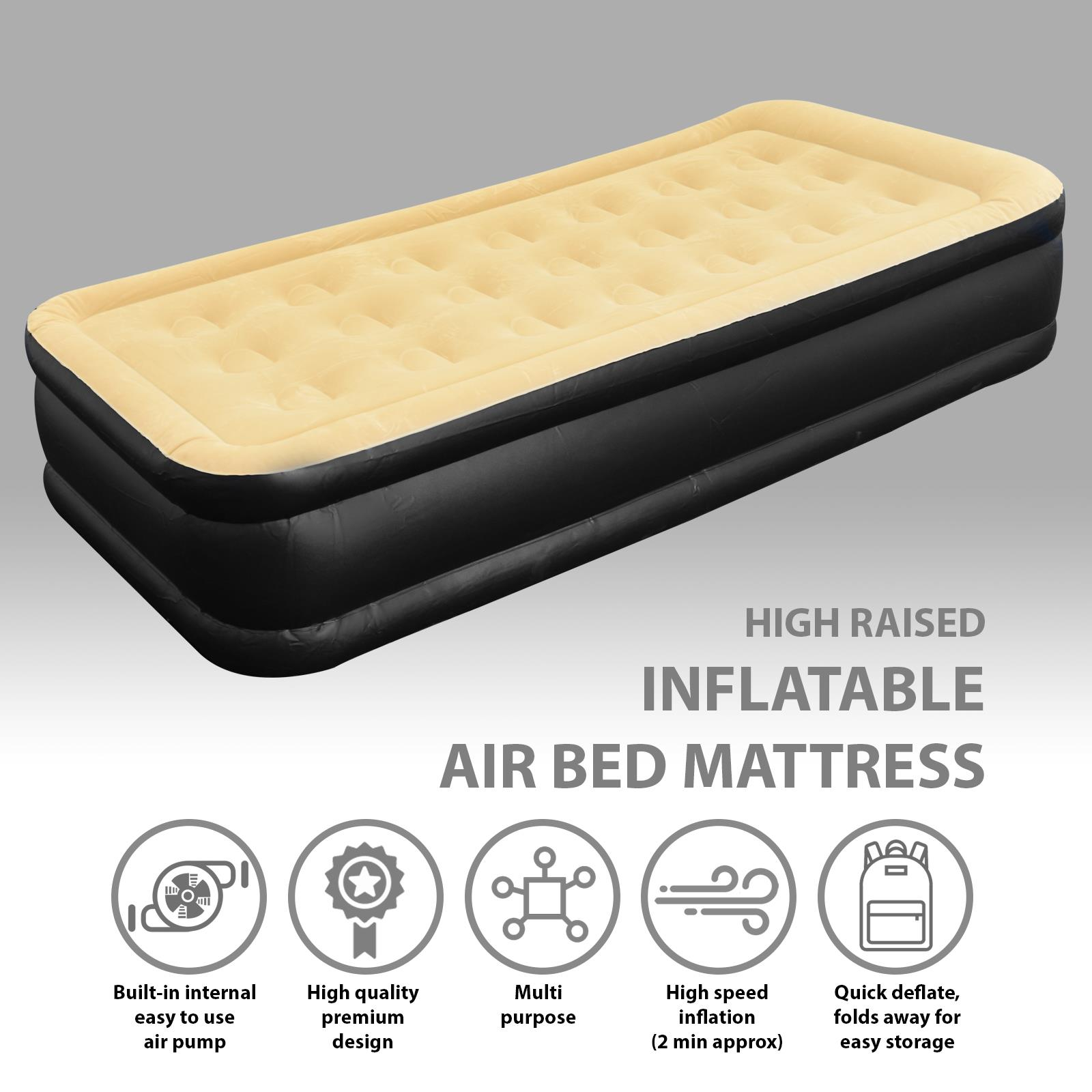 Jilong-Luxury-Air-Bed-Mattress-Soft-Flocked-Inflatable-Relaxing-Airbed-Camping thumbnail 5