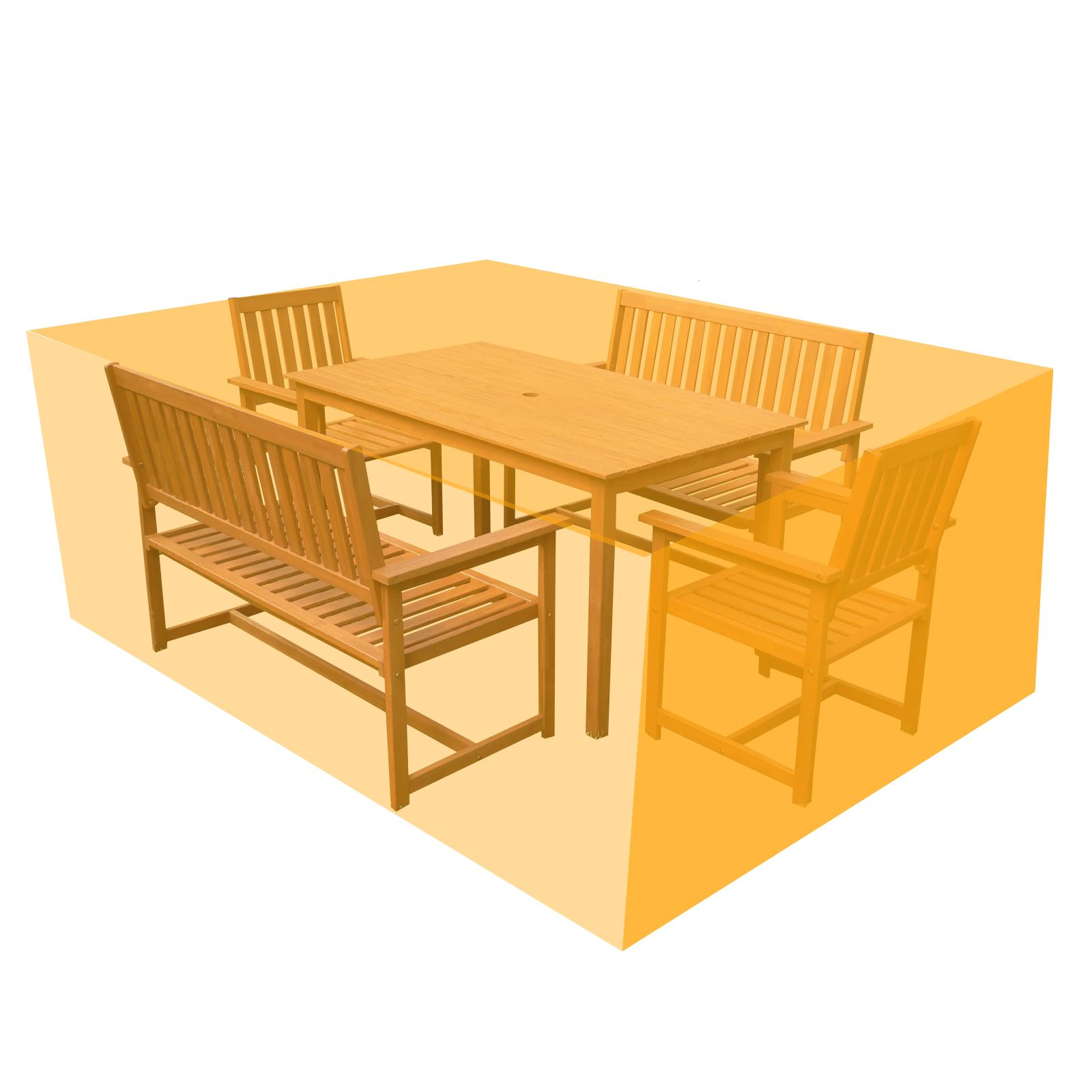 Patio Garden Furniture Tarpaulin Cover Seating Table Chair