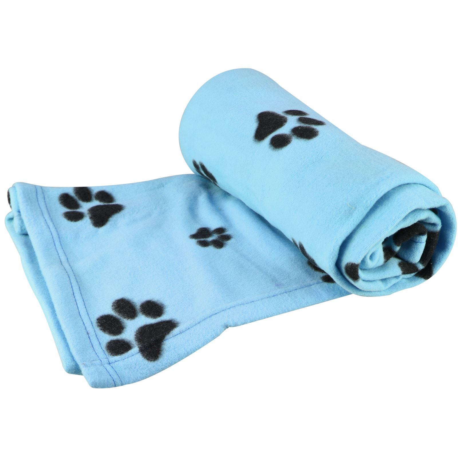 Warm-Pet-Mat-Paw-Print-Cat-Dog-Puppy-Fleece-Soft-Blanket-Bed-Cushion-One-Size thumbnail 13