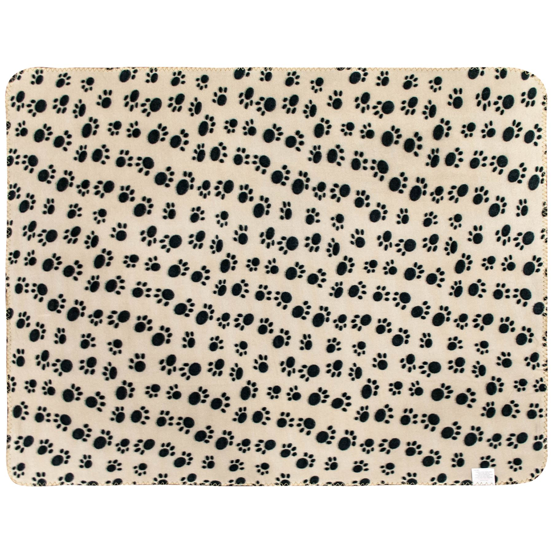 Pet-Blanket-Dogs-amp-Puppy-Cat-Paw-Print-Soft-Warm-Fleece-Bed-Travel-Basket-Car thumbnail 4