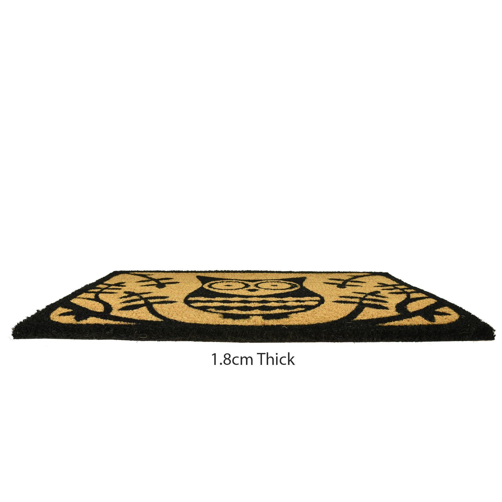 Plain-Non-Slip-Door-Mat-Tough-Natural-Coir-PVC-Back-Welcome-Doormat-40-x-60cm miniatura 92