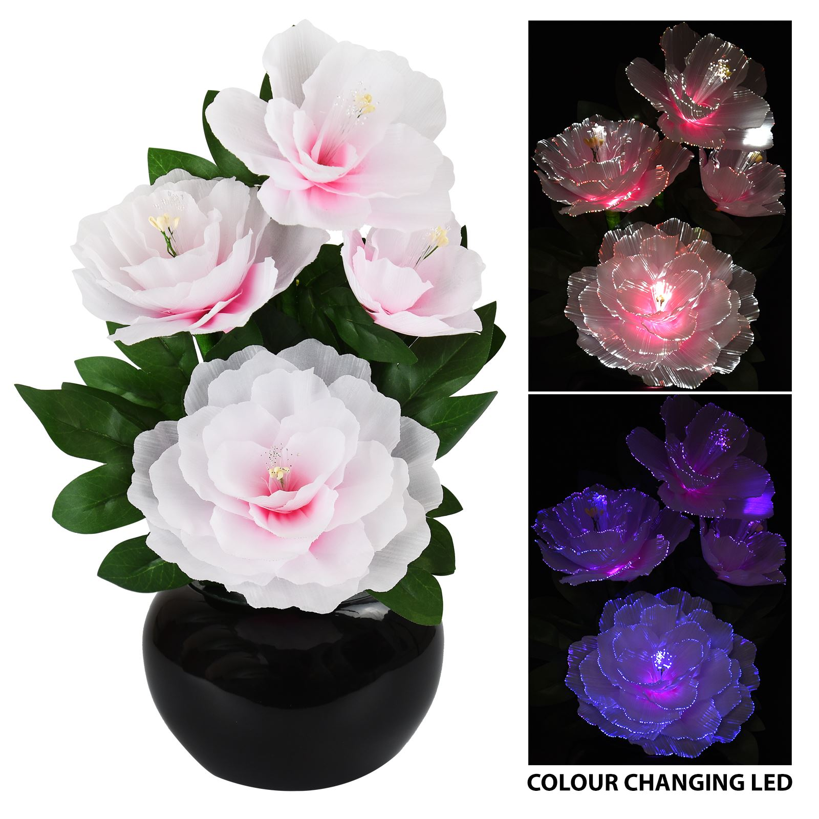 Rgb colour changing flower vase mood light display led fibre optic rgb colour changing flower vase mood light display reviewsmspy