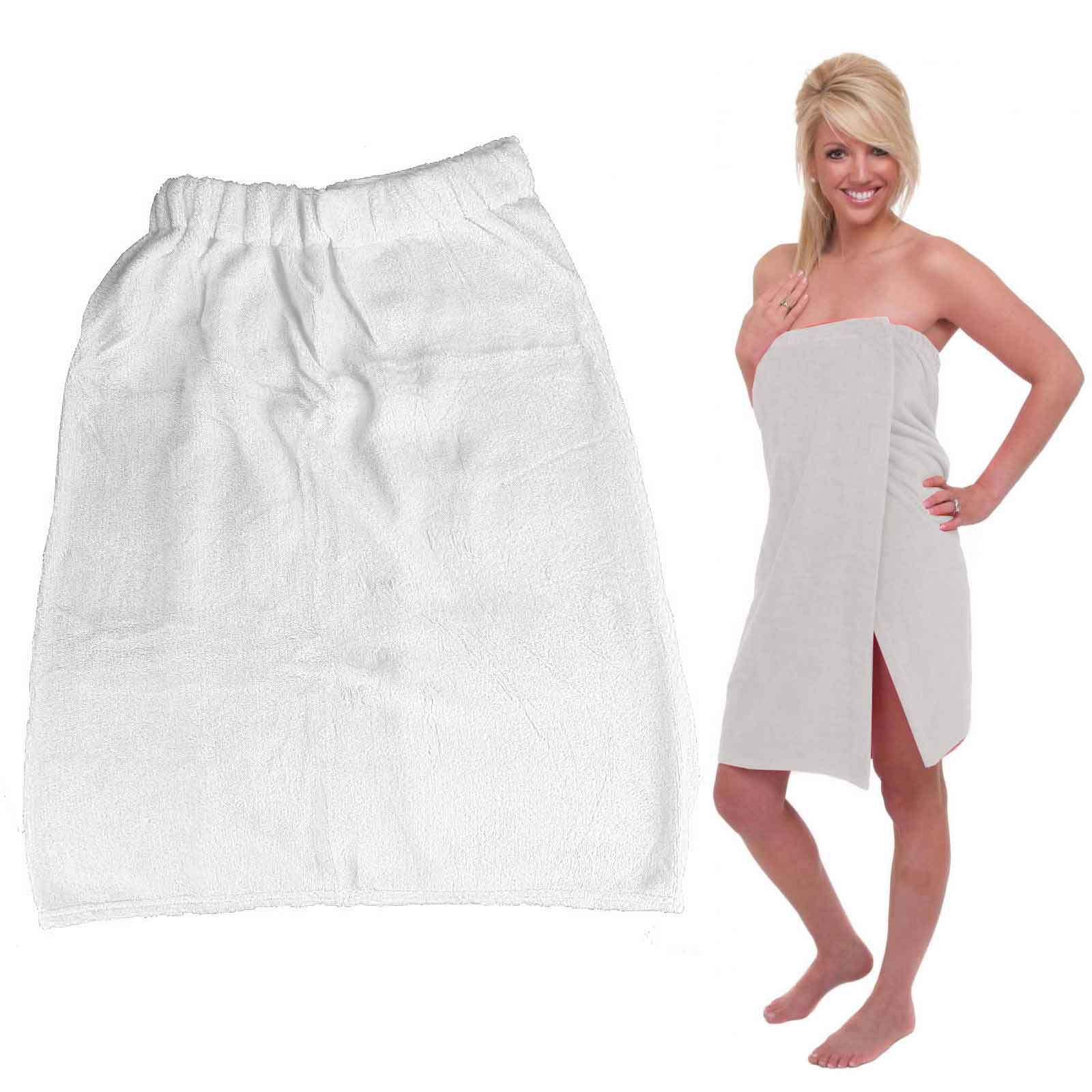 Deluxe Super Soft Shower Towel Wrap Self Fastening