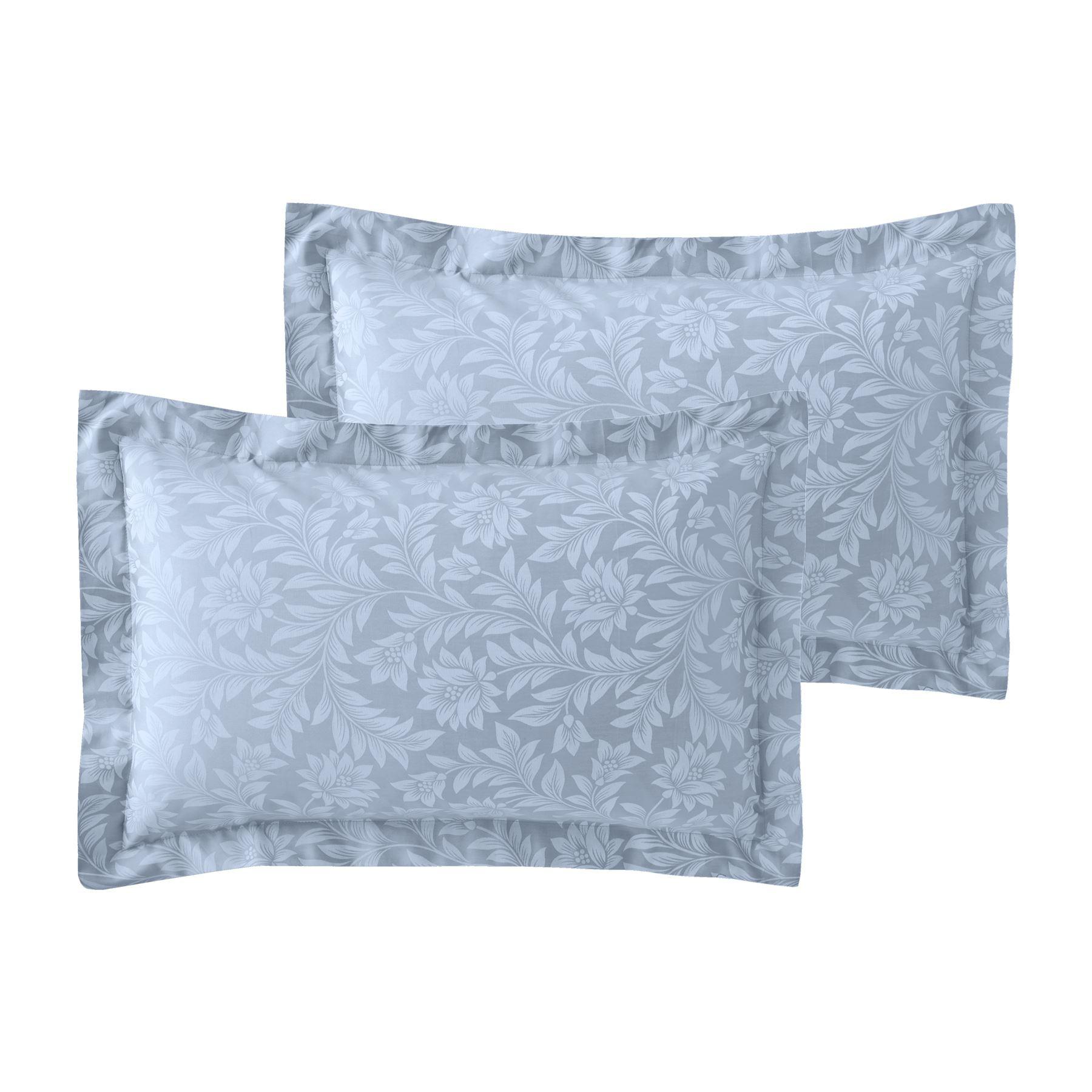 Jacquard-600-Hilos-De-Algodon-Rico-Floral-Duvet-Cover-Set-Fundas-de-almohada-Oxford miniatura 4