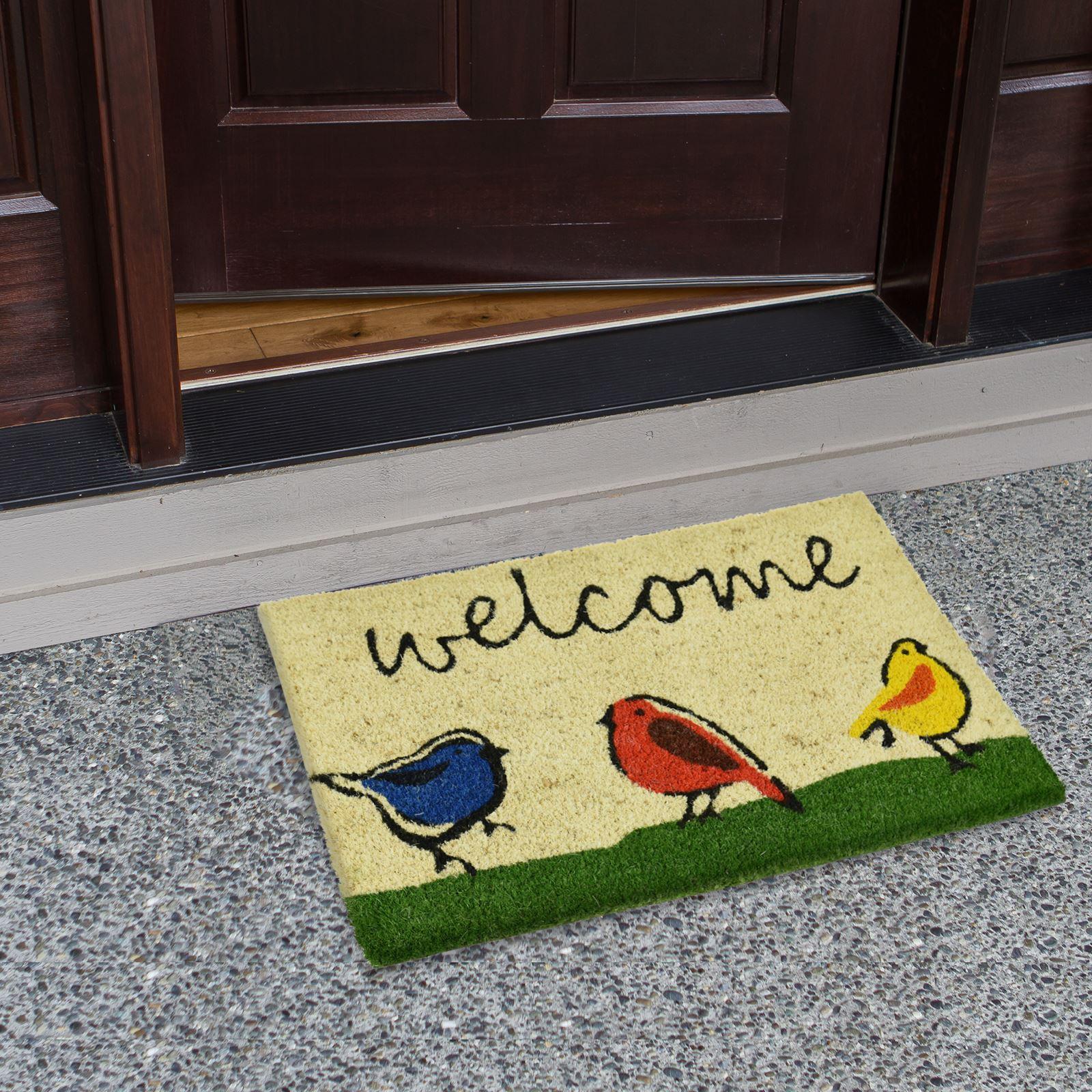Plain-Non-Slip-Door-Mat-Tough-Natural-Coir-PVC-Back-Welcome-Doormat-40-x-60cm miniatura 9